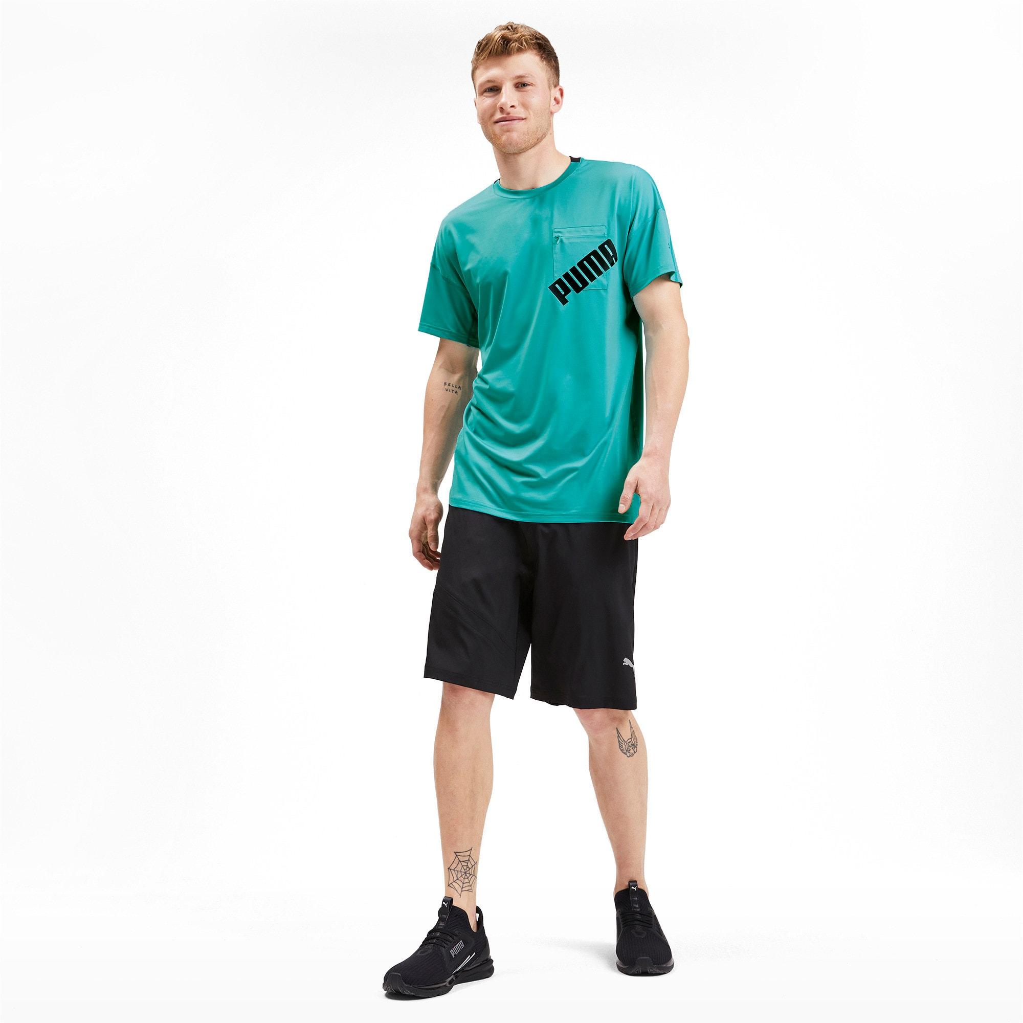 Thumbnail 3 of Get Fast Excite hardloopshirt voor heren, Blue Turquoise-Puma Black, medium