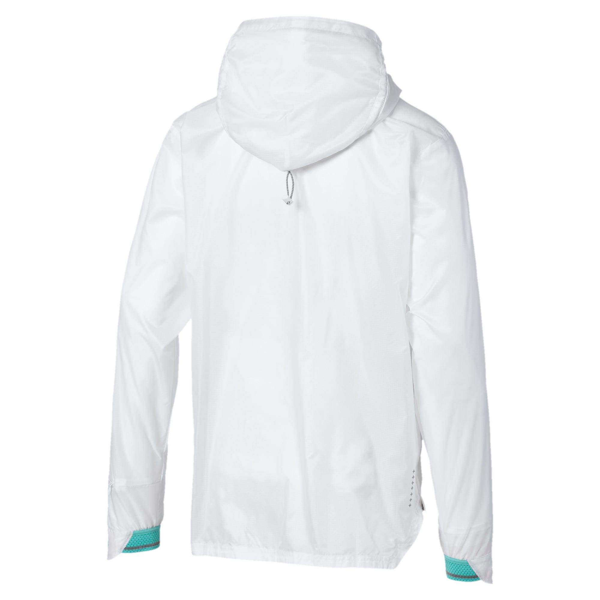 Thumbnail 5 of Get Fast Excite Woven Half Zip Men's Running Jacket, Puma White, medium-IND