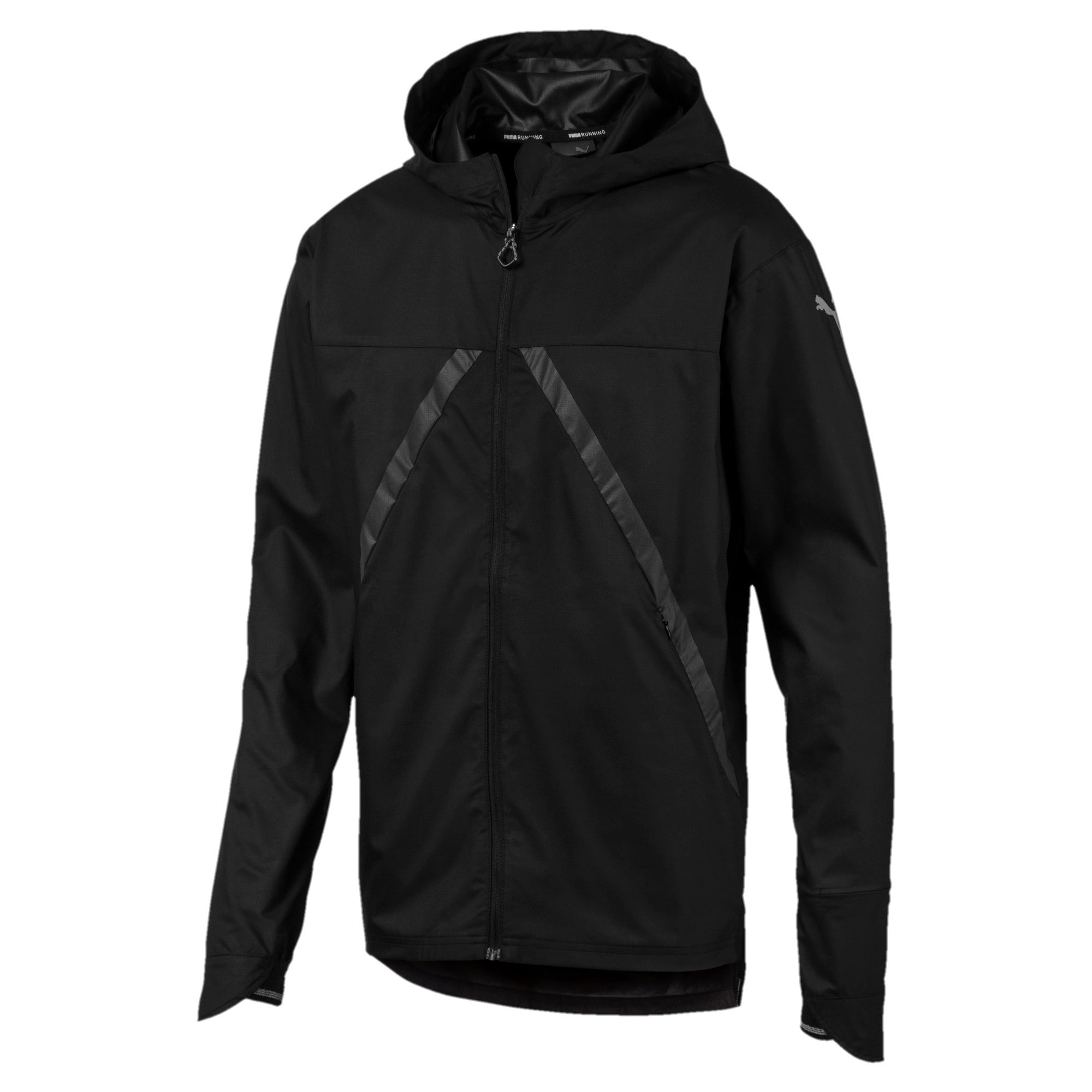 Thumbnail 4 of Last Lap VIZ Men's Running Jacket, Puma Black, medium