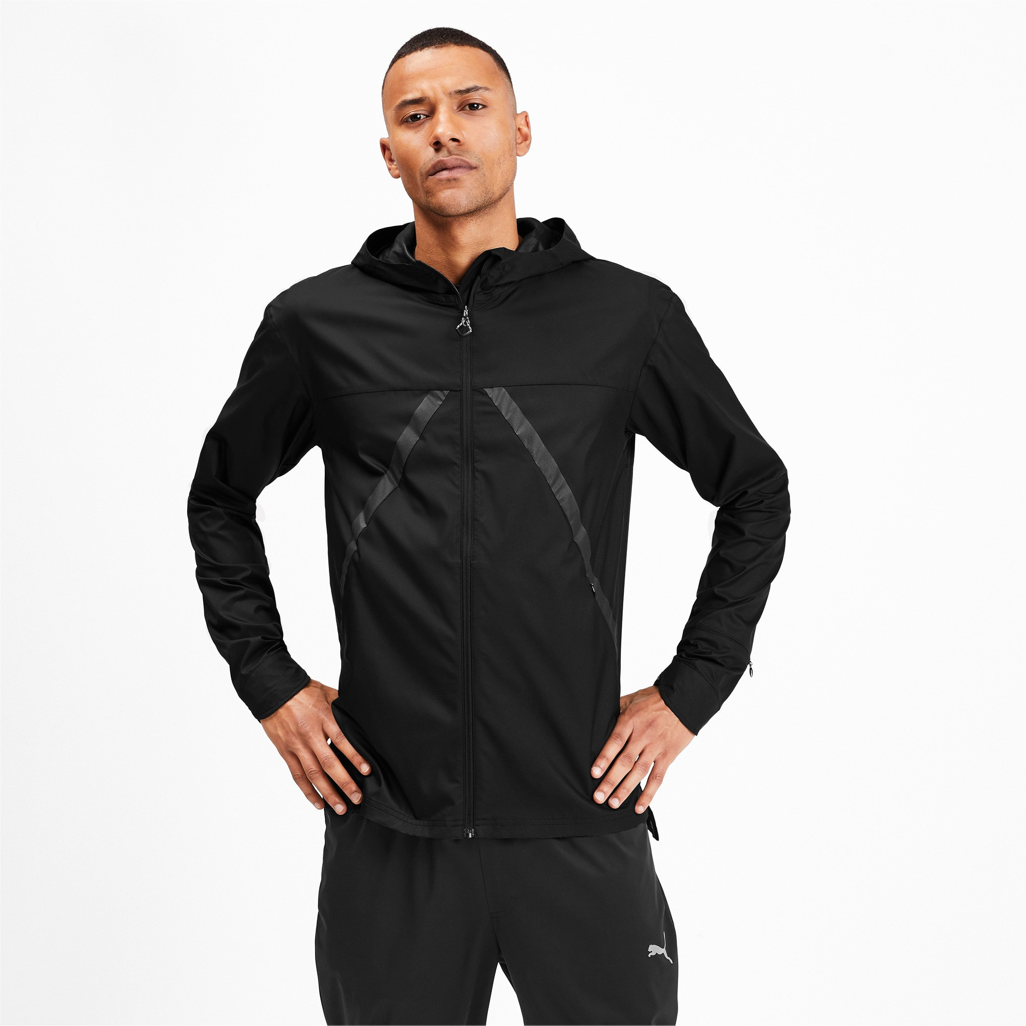 Thumbnail 1 of Last Lap VIZ Men's Running Jacket, Puma Black, medium