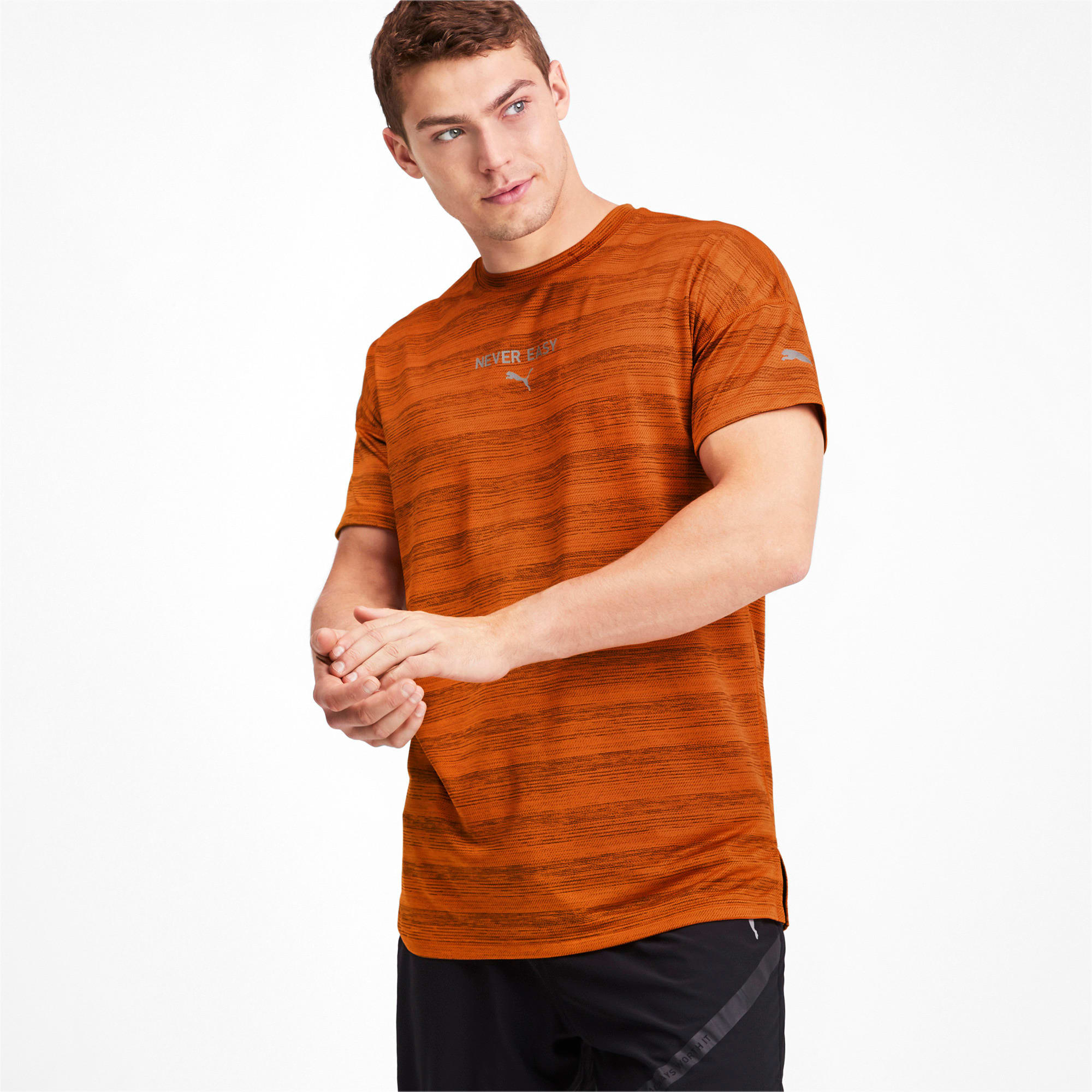 Thumbnail 1 of LastLap Heather Men's Tee, Jaffa Orange Heather, medium