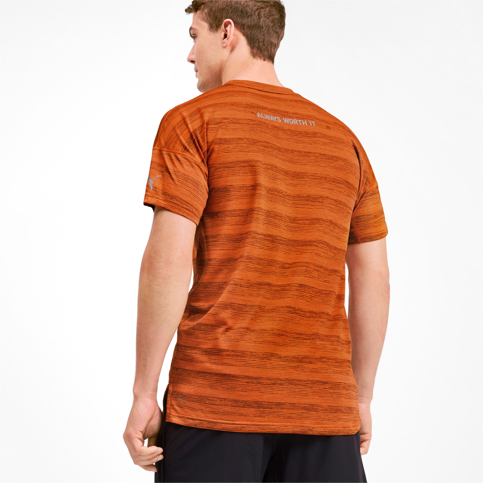 Thumbnail 2 of LastLap Heather Men's Tee, Jaffa Orange Heather, medium