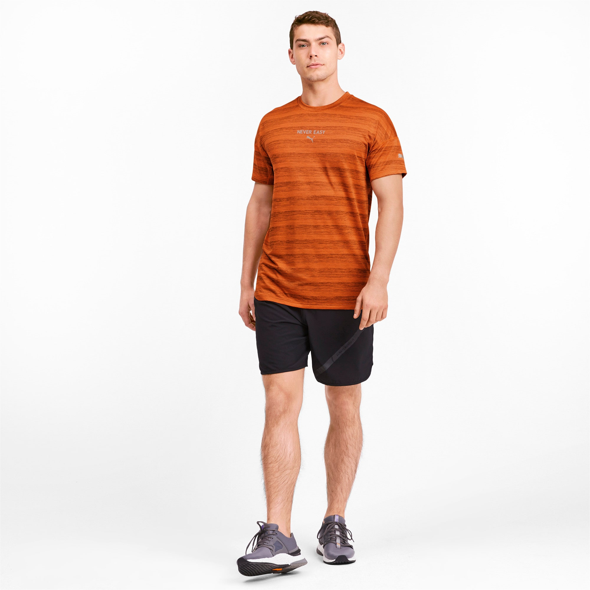 Thumbnail 3 of LastLap Heather Men's Tee, Jaffa Orange Heather, medium