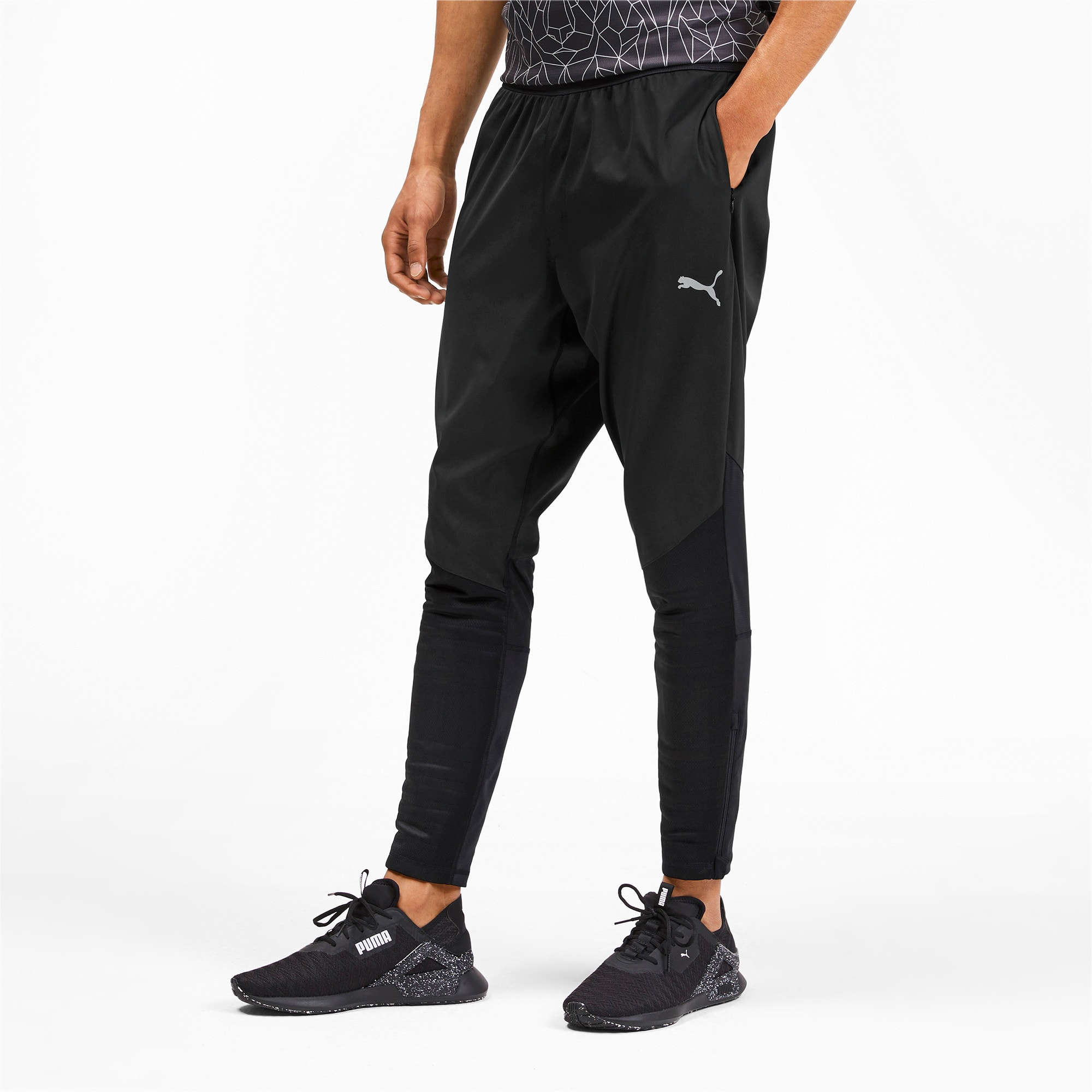 Thumbnail 1 of Get Fast Excite Herren Running Gewebte Hose, Puma Black, medium