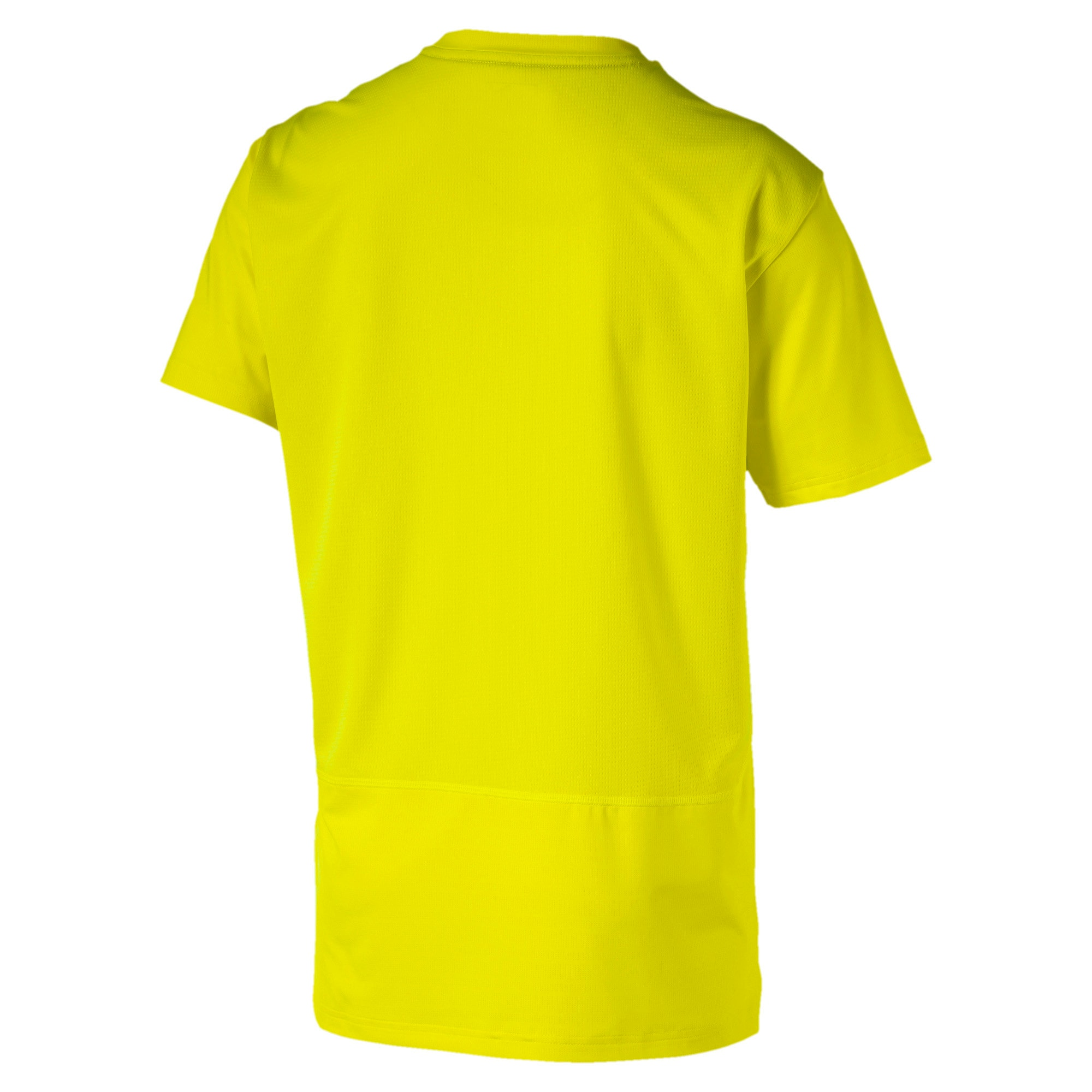 Reflective Tech Men's Training Tee, Yellow Alert, large