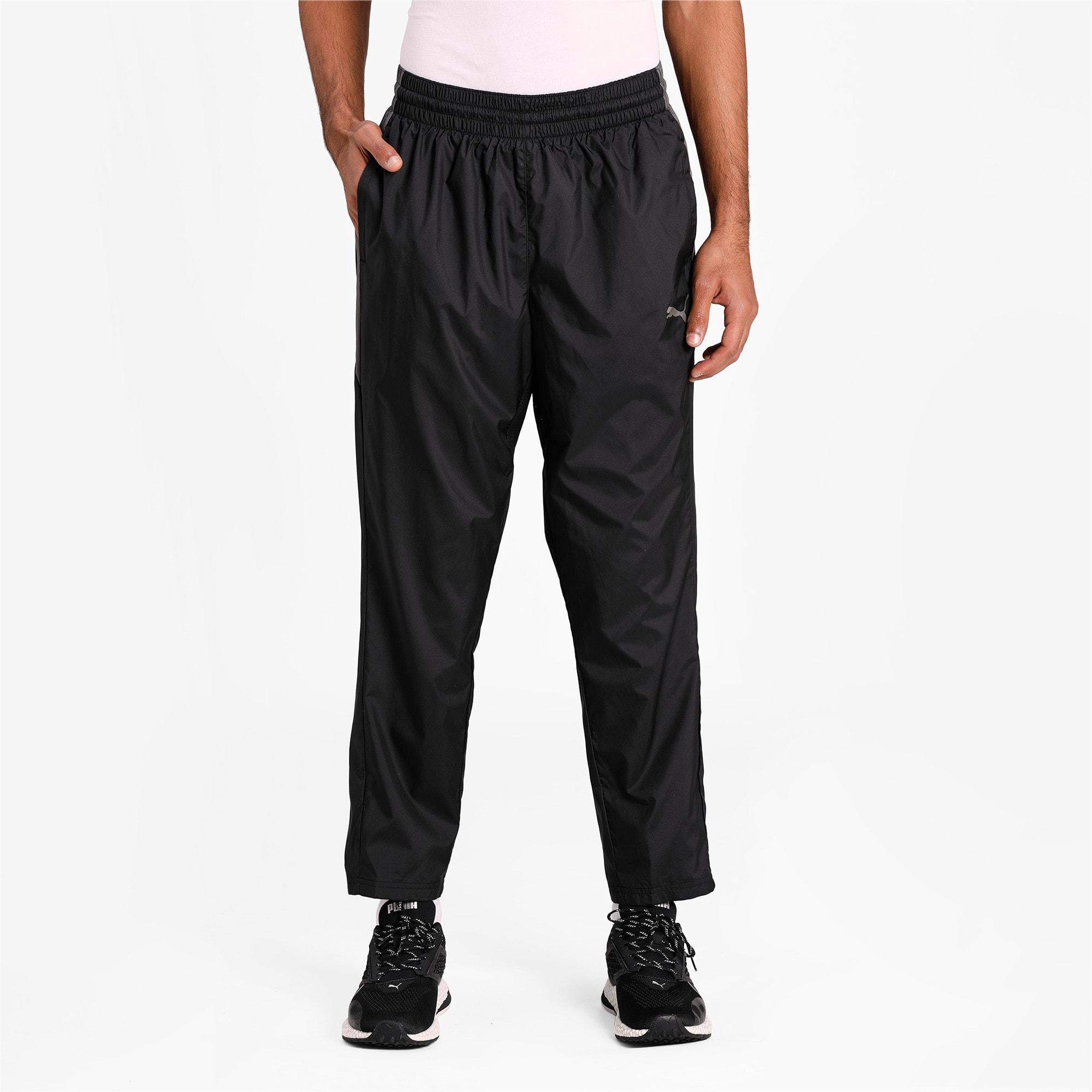 Thumbnail 1 of Reactive Woven Men's Training Pants, Puma Black-CASTLEROCK, medium-IND
