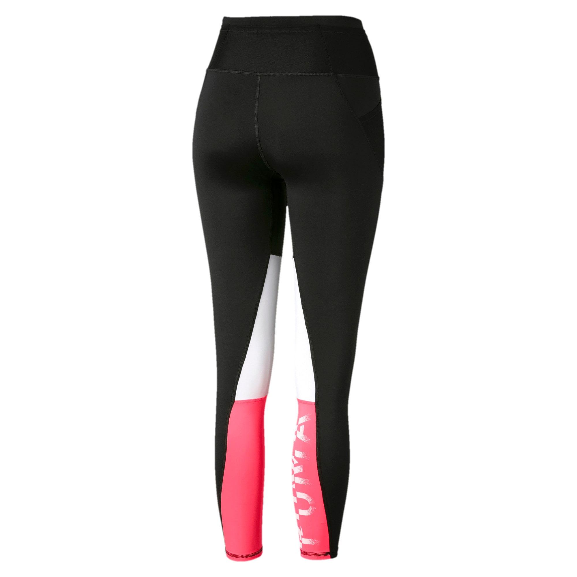 Thumbnail 5 of Feel It Women's 7/8 Leggings, Black-White-Pink Alert, medium
