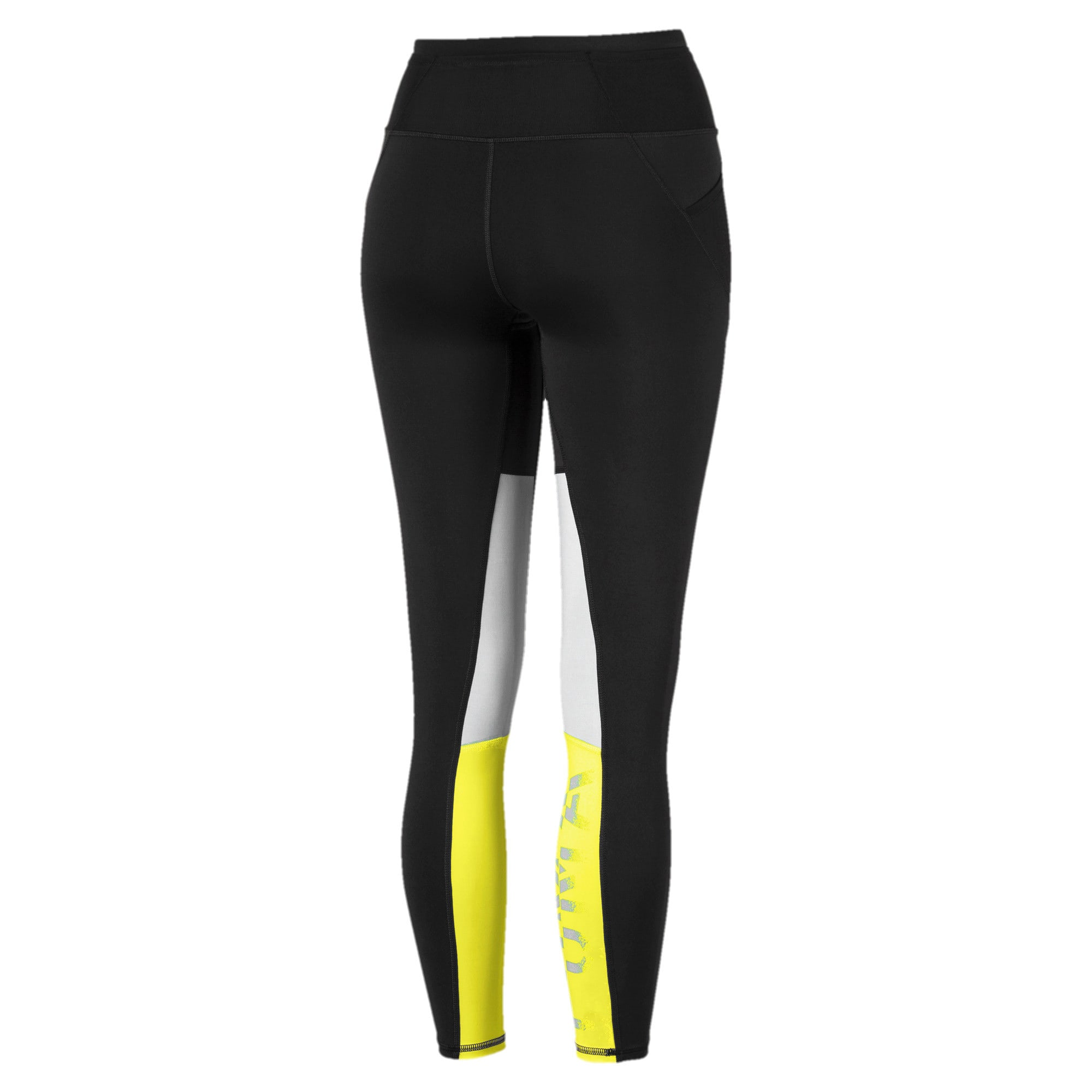 Thumbnail 5 of Feel It Women's 7/8 Leggings, Puma Black-Yellow Alert, medium