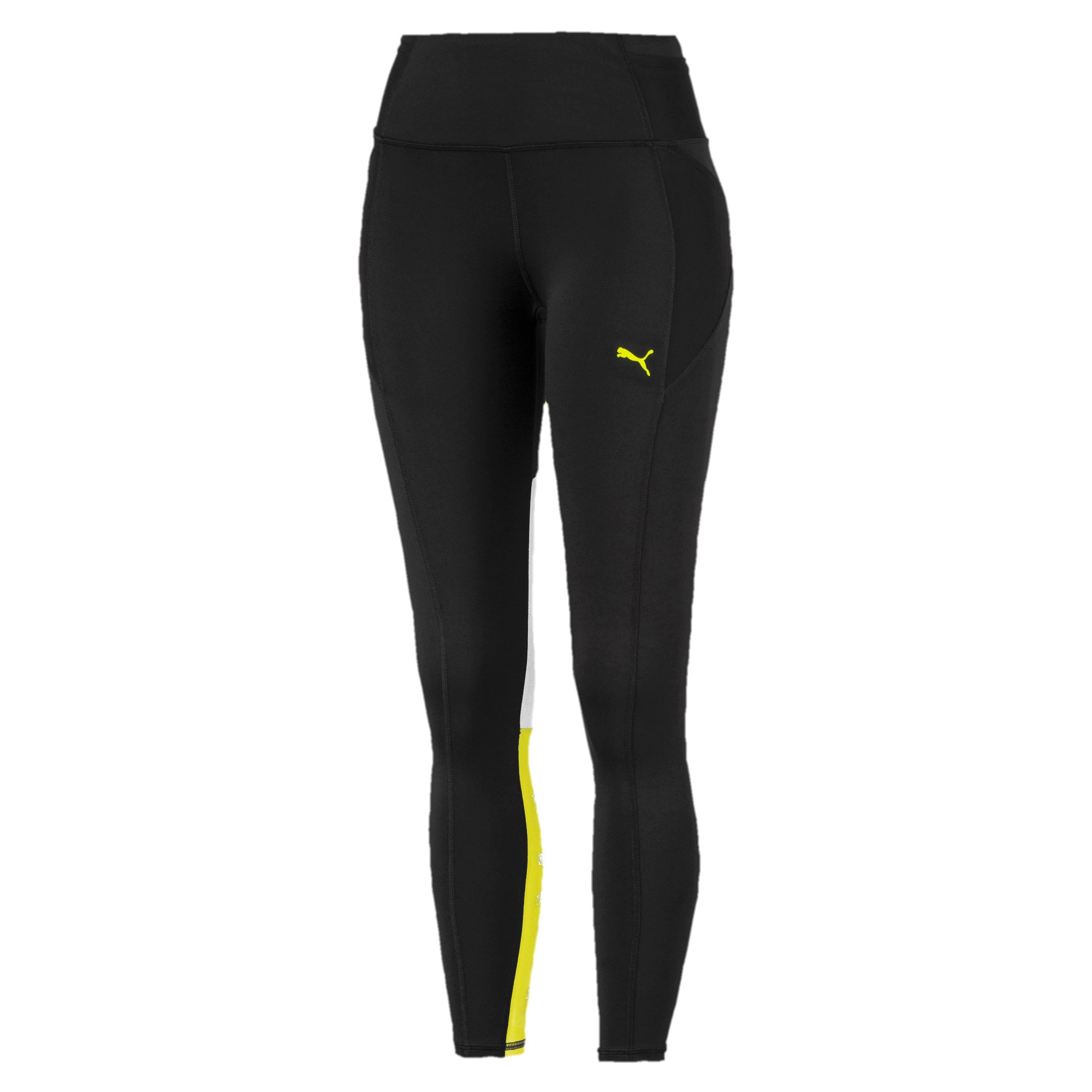 Thumbnail 4 of Feel It Women's 7/8 Leggings, Puma Black-Yellow Alert, medium