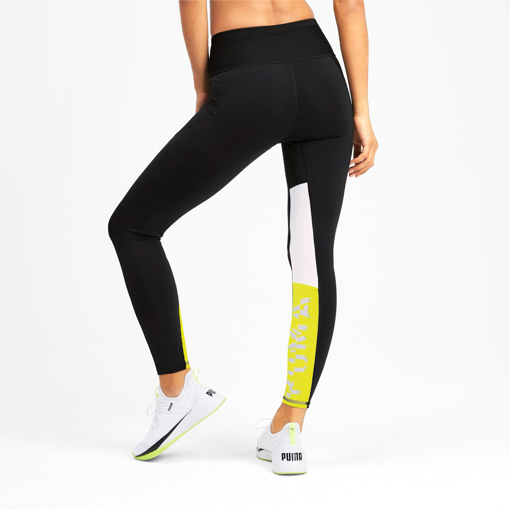 Thumbnail 2 of Feel It Women's 7/8 Leggings, Puma Black-Yellow Alert, medium