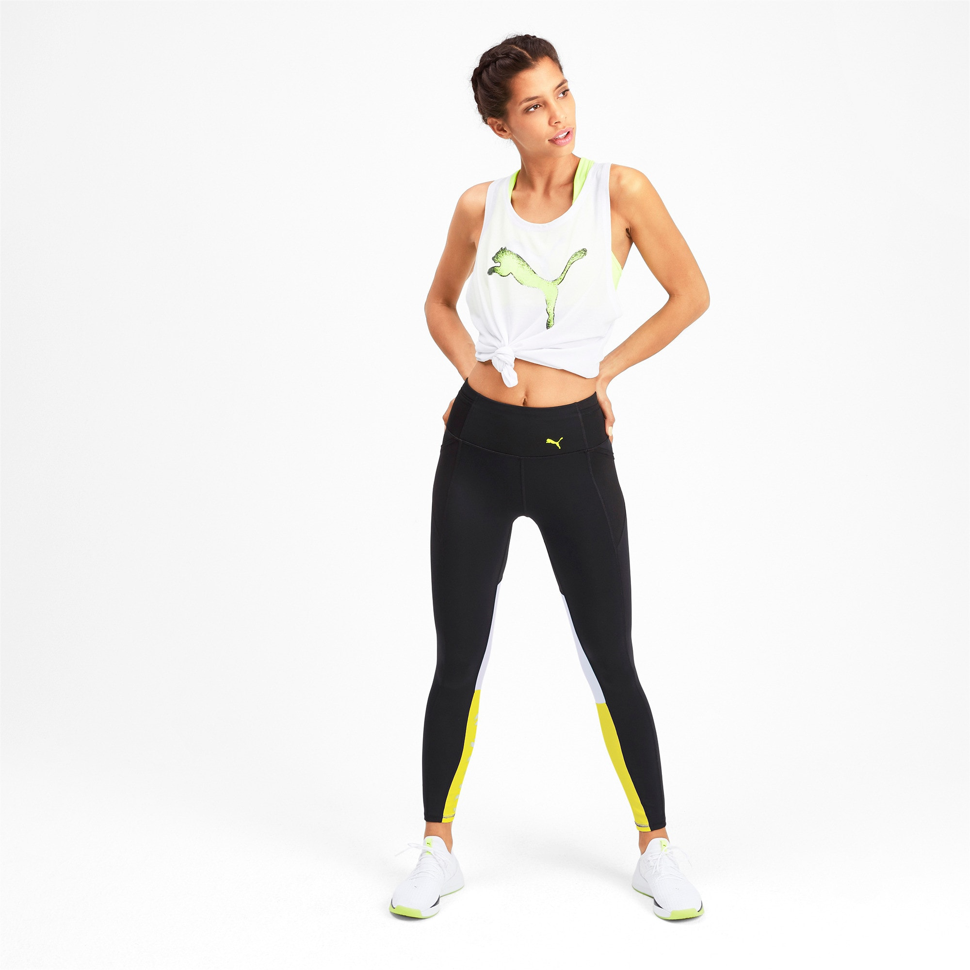 Thumbnail 3 of Feel It Women's 7/8 Leggings, Puma Black-Yellow Alert, medium