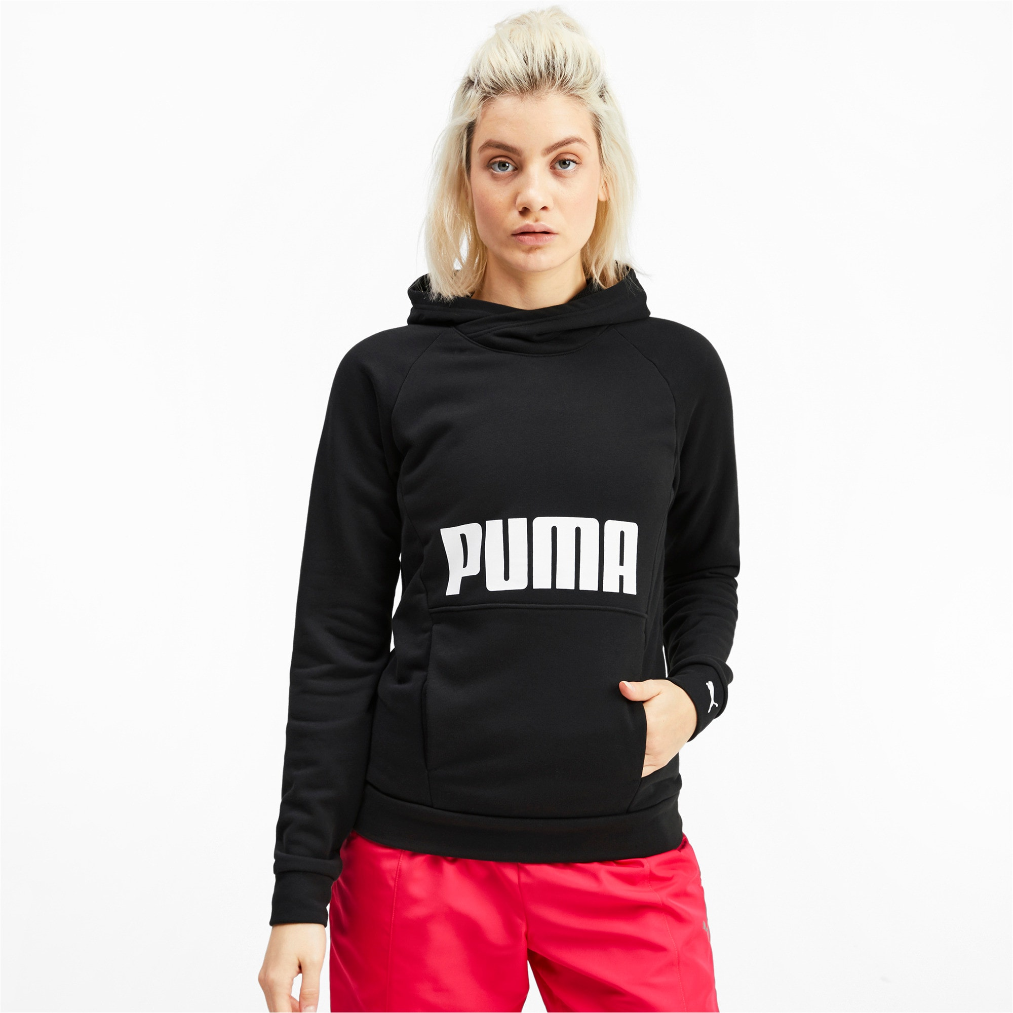 Thumbnail 1 of Fav Women's Training Hoodie, Puma Black, medium-IND