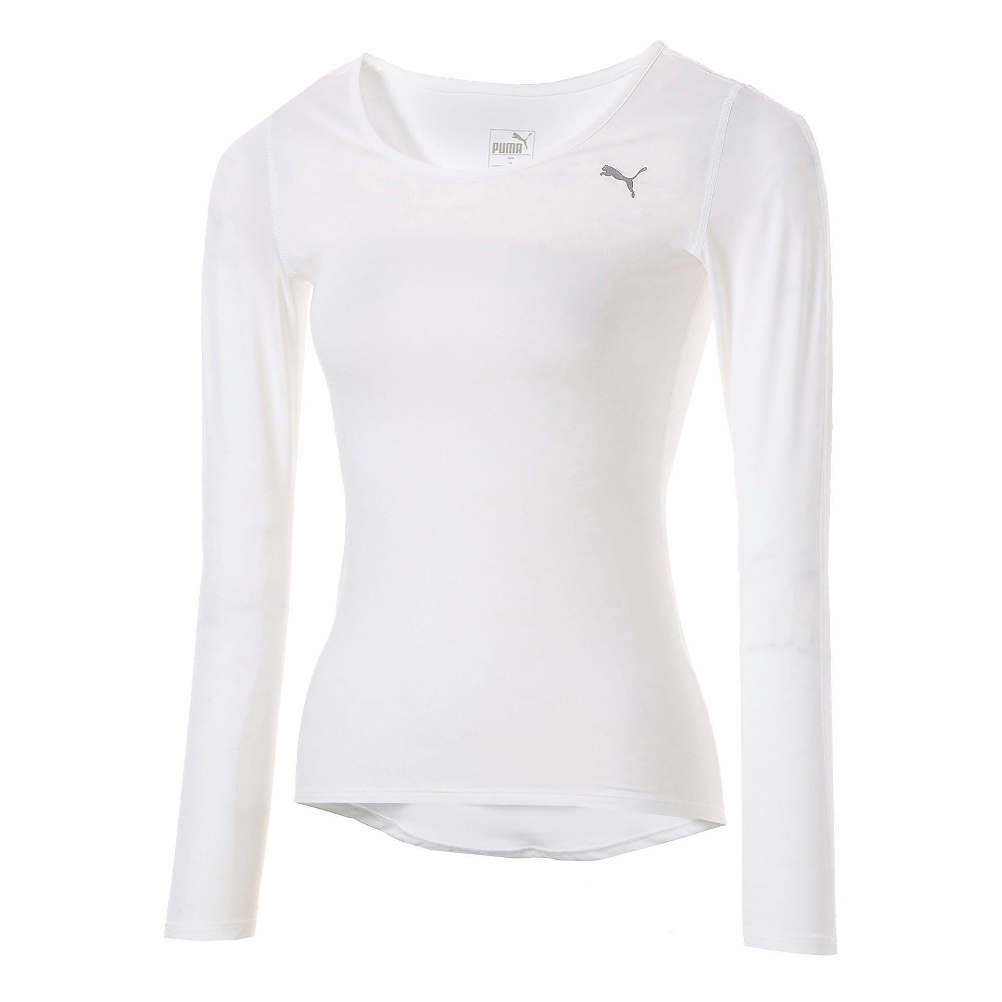 Thumbnail 1 of テック ライト LS ウィメンズ トレーニング Tシャツ 長袖, Puma White, medium-JPN