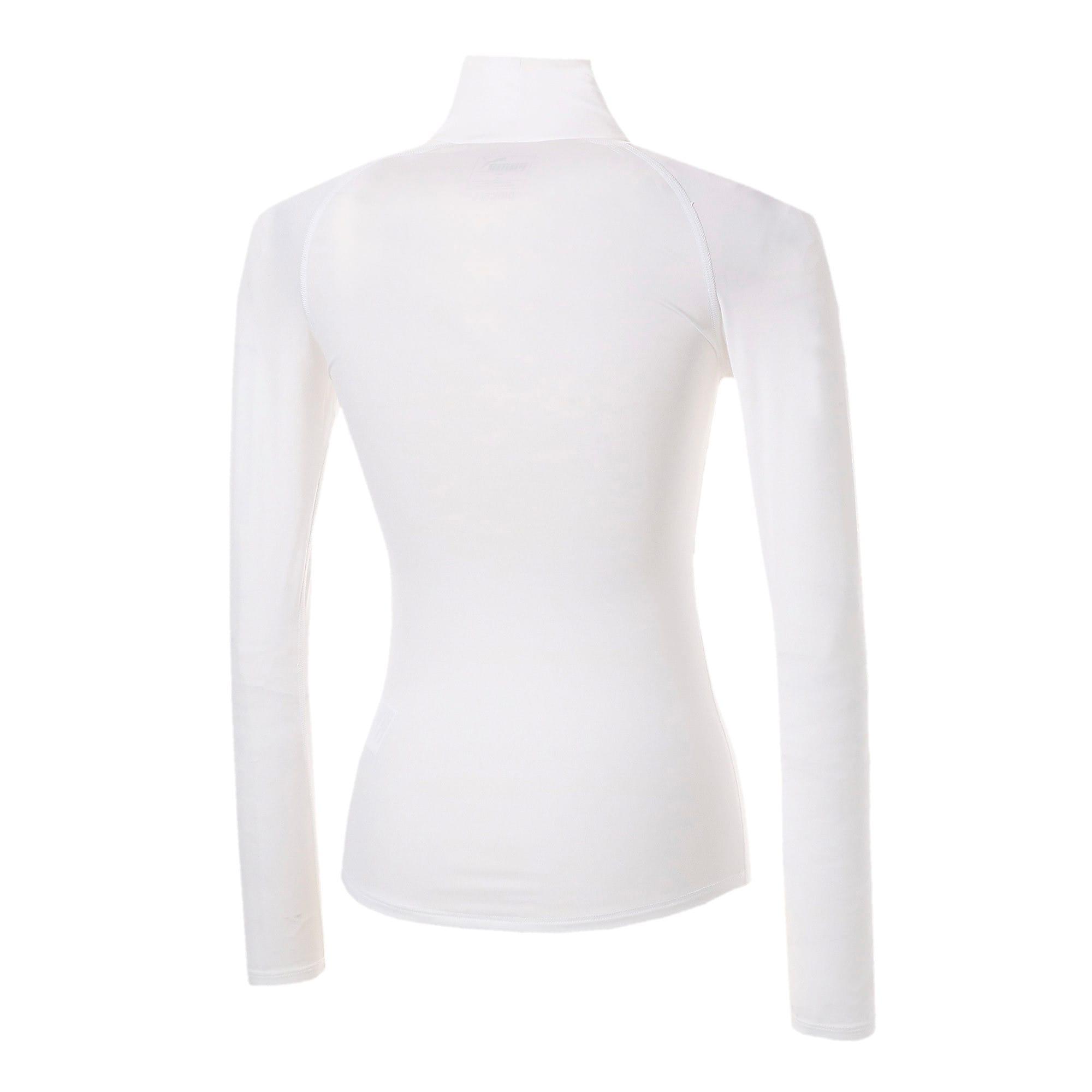 Thumbnail 3 of テック ライト LSモックネック ウィメンズ トレーニング Tシャツ 長袖, Puma White, medium-JPN