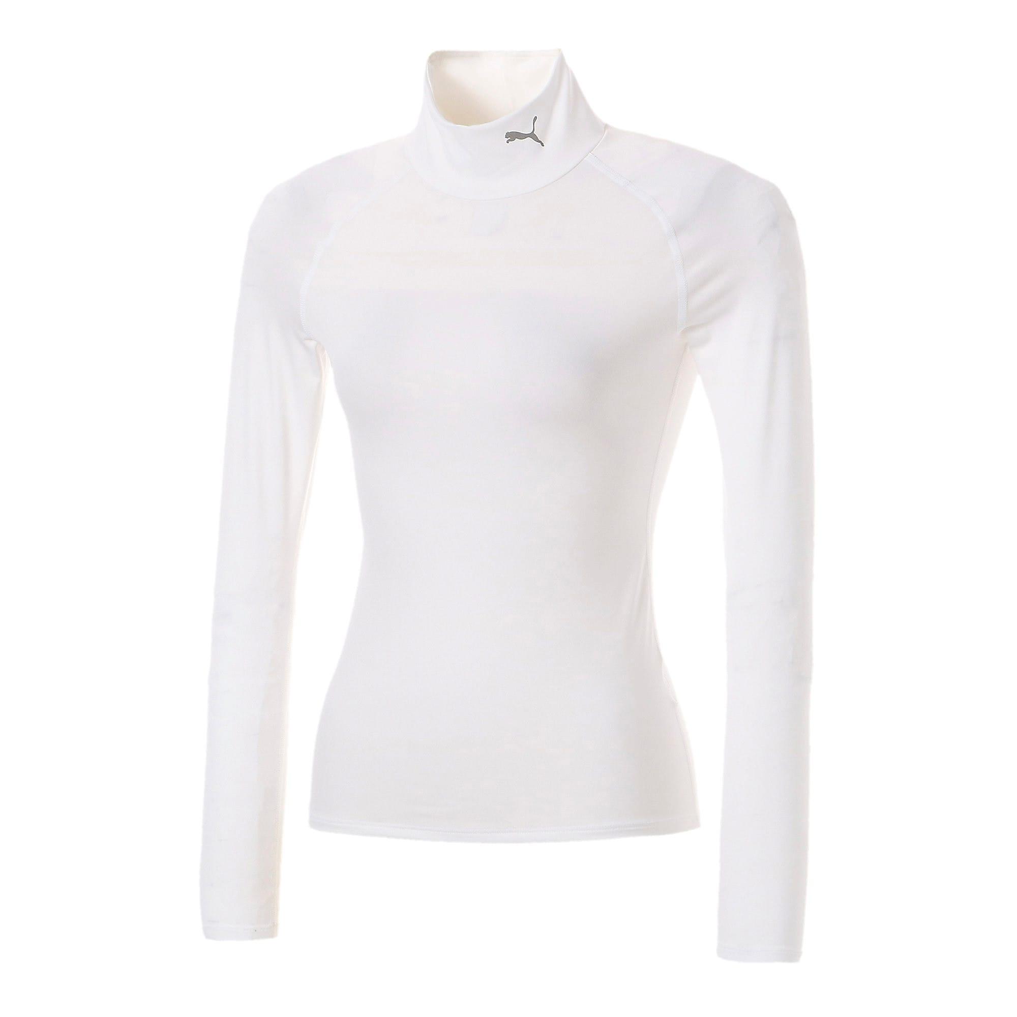 Thumbnail 1 of テック ライト LSモックネック ウィメンズ トレーニング Tシャツ 長袖, Puma White, medium-JPN