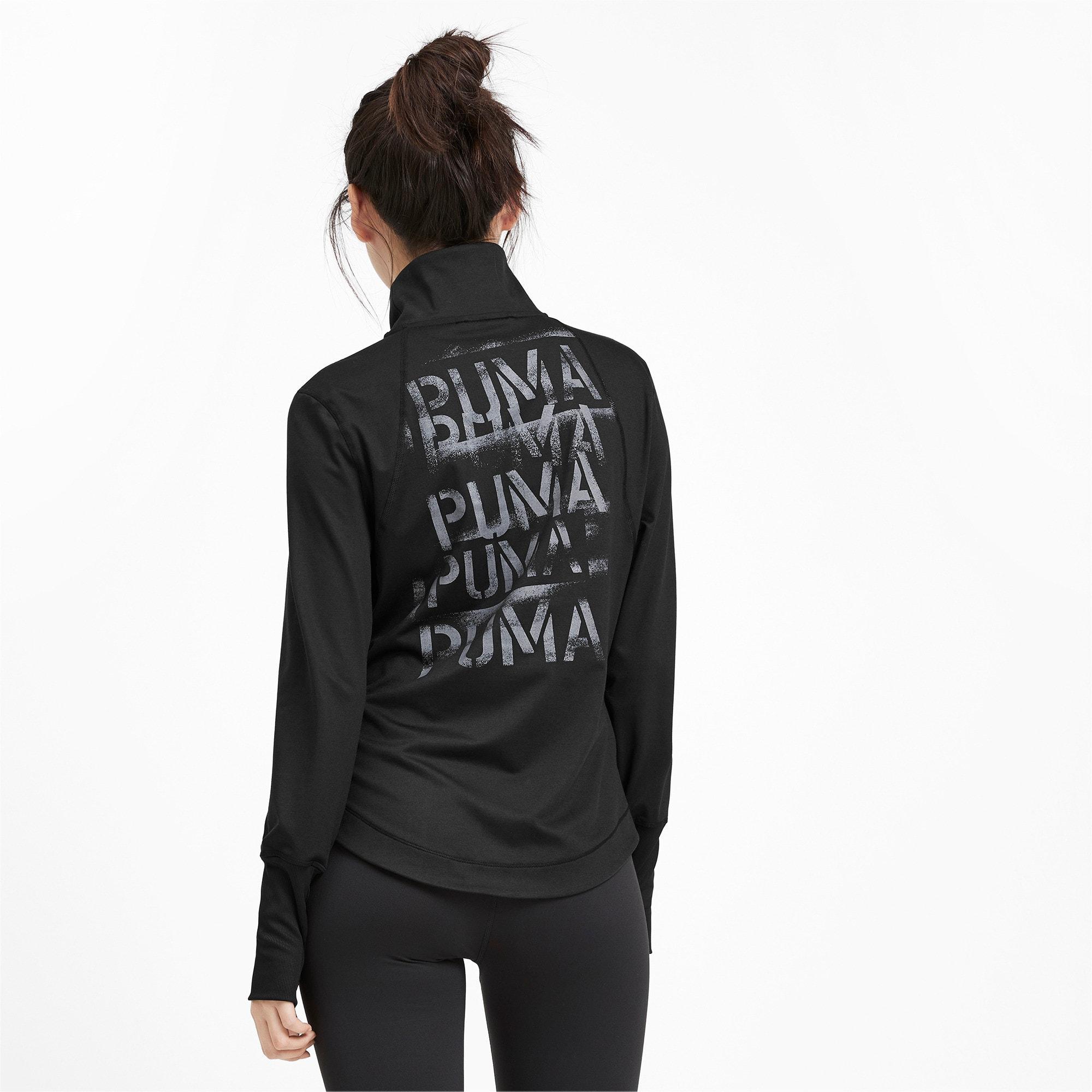 Thumbnail 3 of スタジオ ウィメンズ トレーニング ニット ジャケット, Puma Black, medium-JPN
