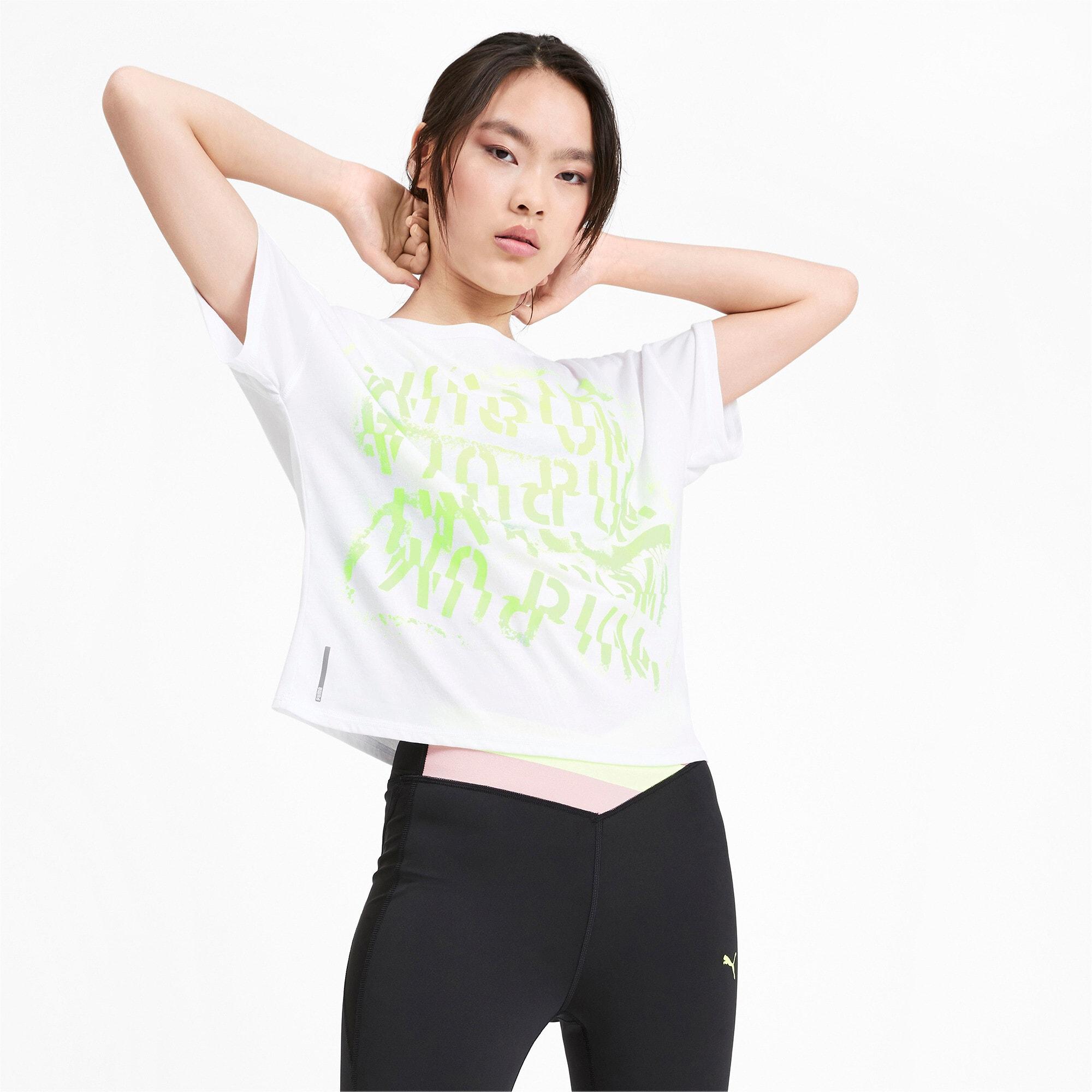 Thumbnail 1 of フィール イット SS ウィメンズ トレーニング Tシャツ 半袖, Puma White, medium-JPN