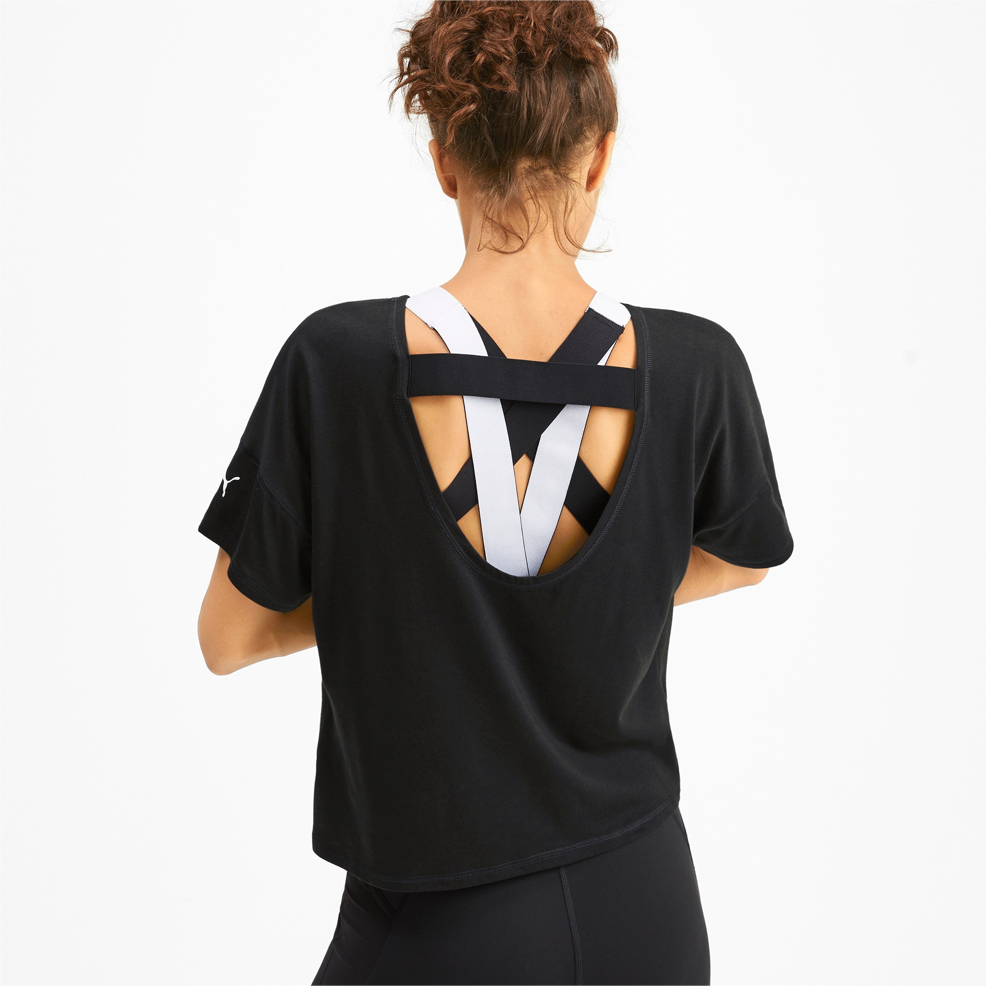 Thumbnail 3 of フィール イット SS ウィメンズ トレーニング Tシャツ 半袖, Puma Black, medium-JPN