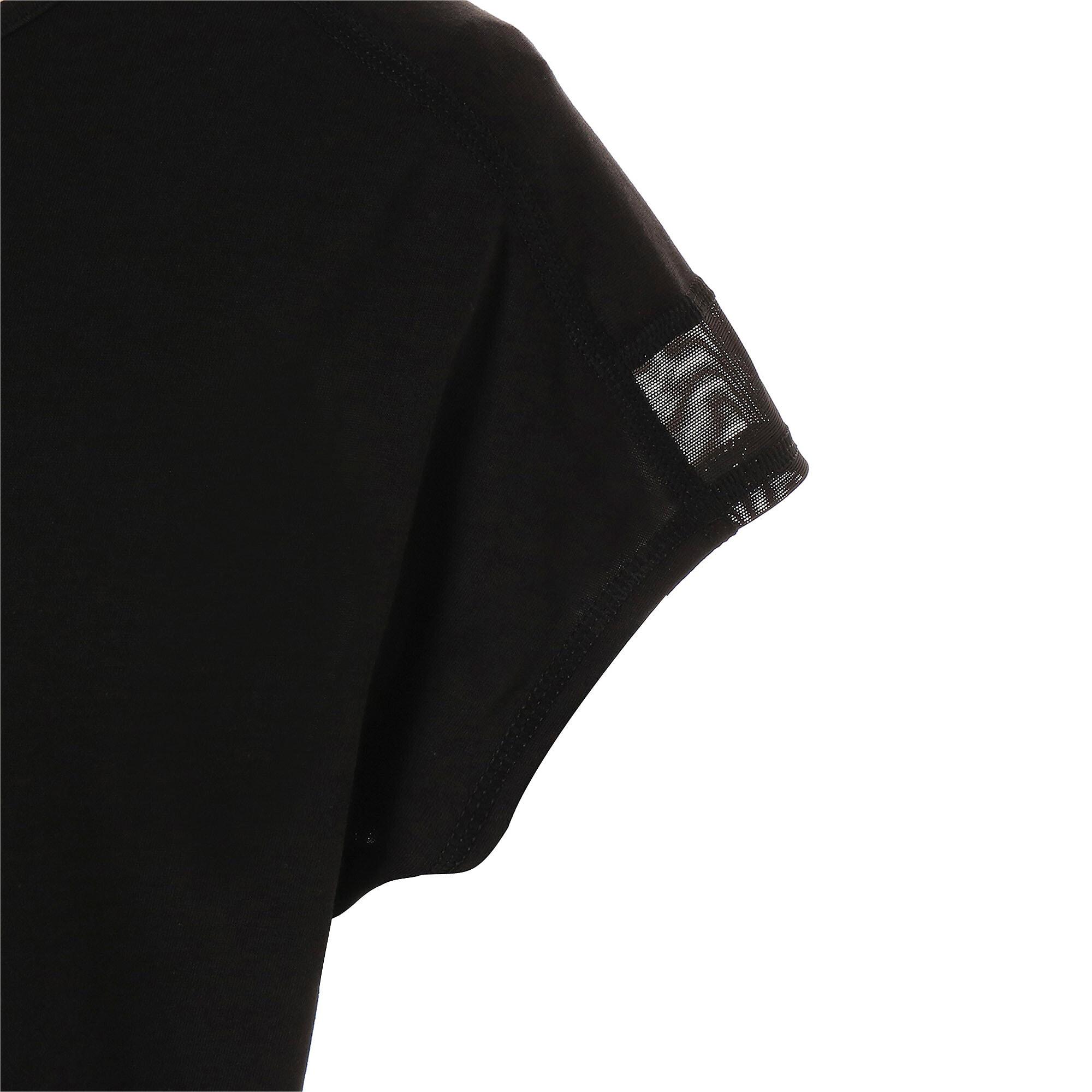 Thumbnail 8 of スタジオ SS ウィメンズ トレーニング メッシュ キャット Tシャツ 半袖, Puma Black-Yellow Alert, medium-JPN