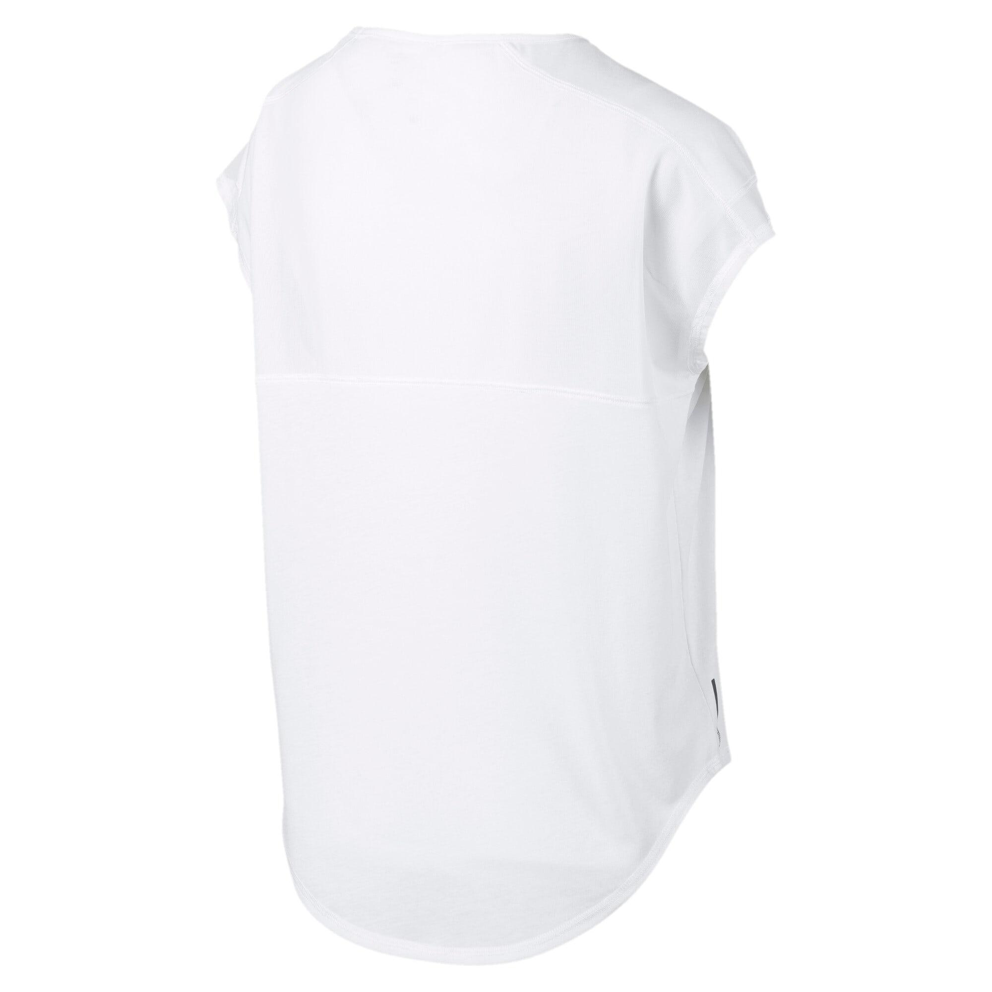 Thumbnail 5 of スタジオ SS ウィメンズ トレーニング メッシュ キャット Tシャツ 半袖, Puma White, medium-JPN