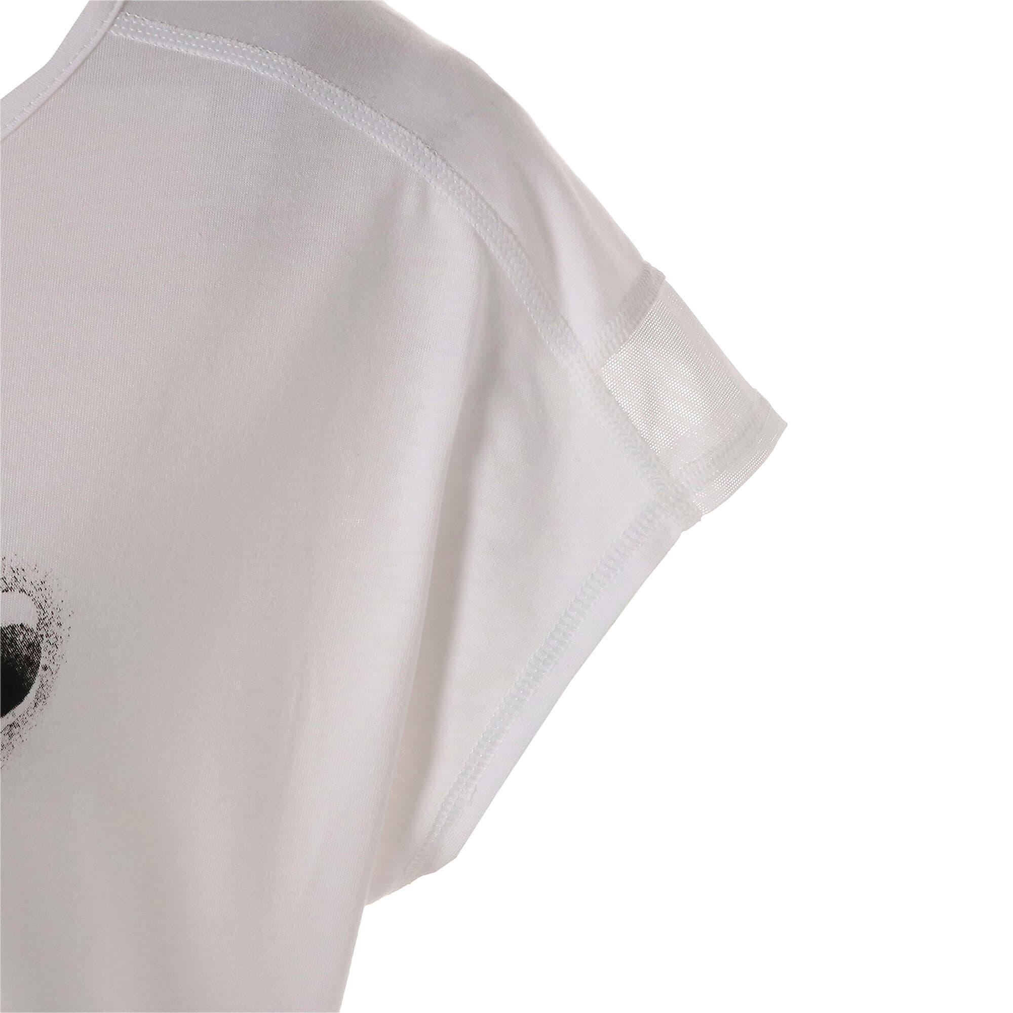 Thumbnail 8 of スタジオ SS ウィメンズ トレーニング メッシュ キャット Tシャツ 半袖, Puma White, medium-JPN