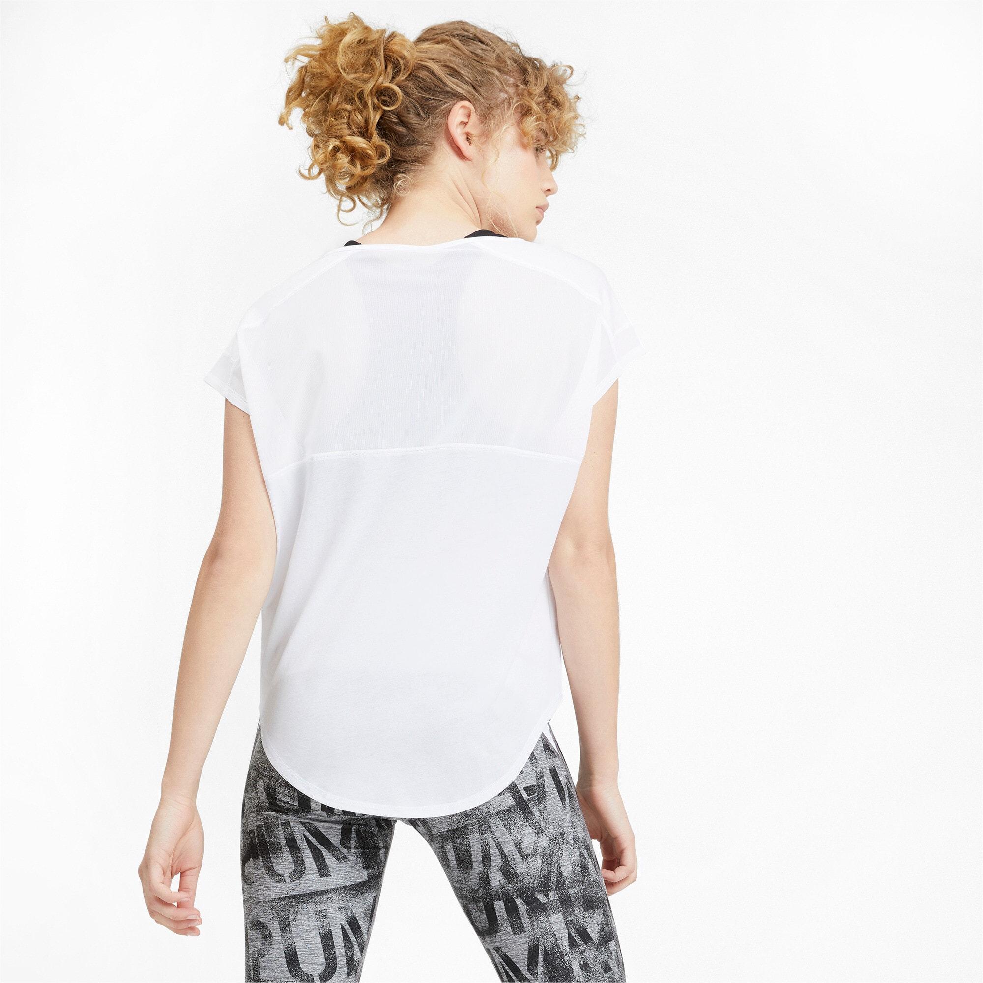 Thumbnail 3 of スタジオ SS ウィメンズ トレーニング メッシュ キャット Tシャツ 半袖, Puma White, medium-JPN