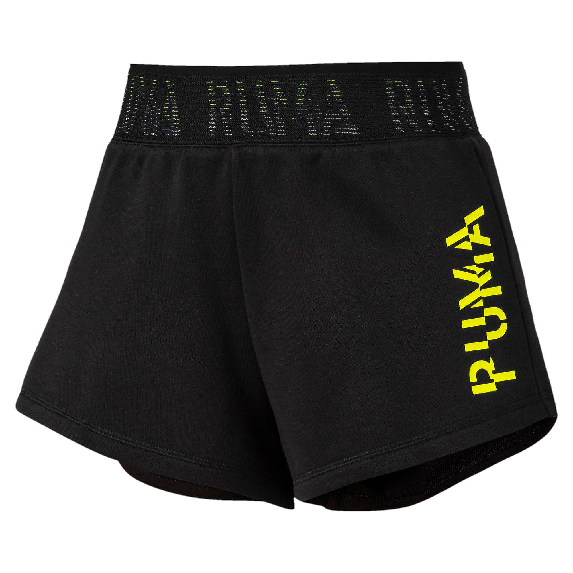 Thumbnail 4 of BE BOLD ウィメンズ トレーニング ショーツ 3インチ, PumaBlack-yellow alert'PUMA', medium-JPN
