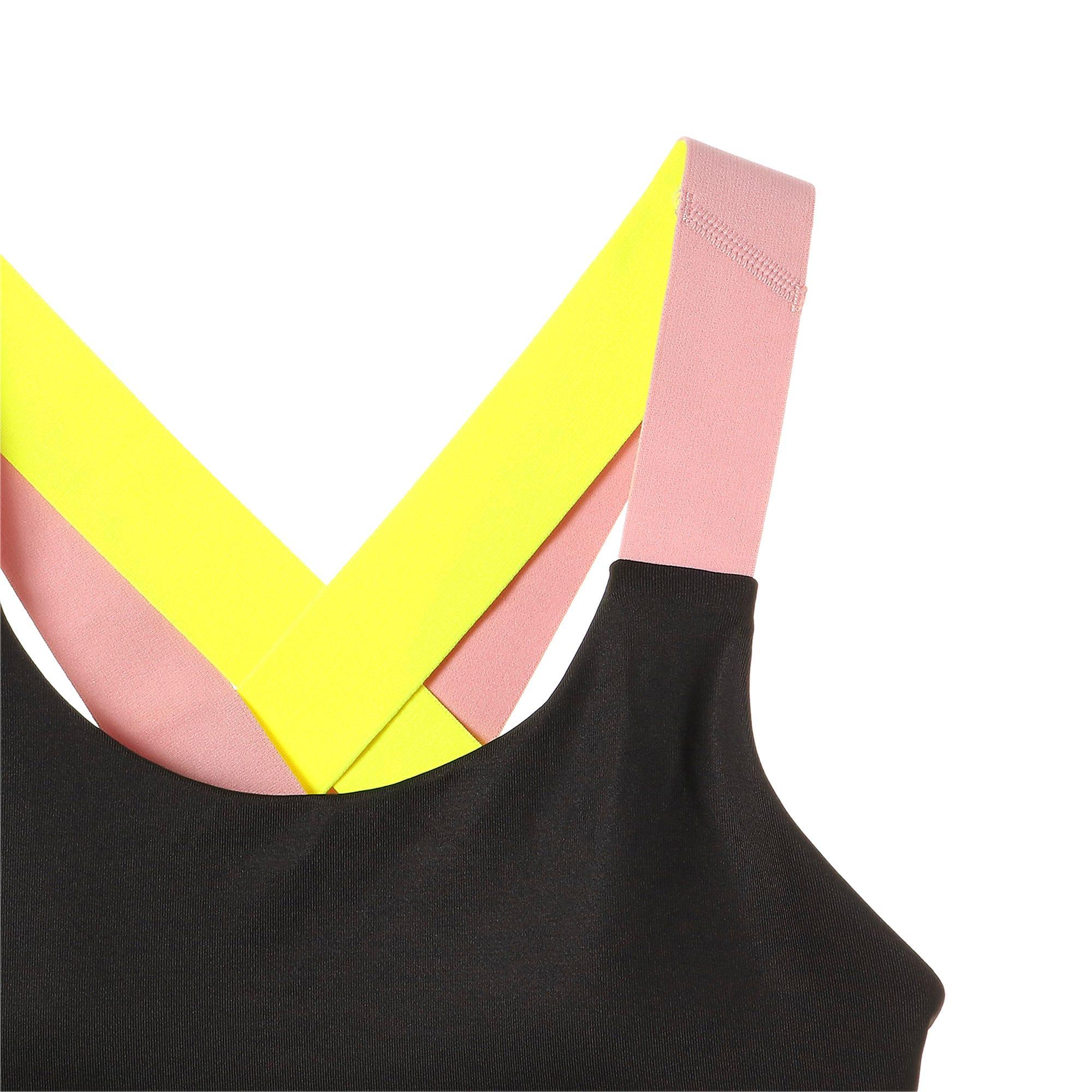 Thumbnail 8 of フィール イット ウィメンズ ブラトップ ミディアムサポート, Black-BridalRose-Yellowalert, medium-JPN