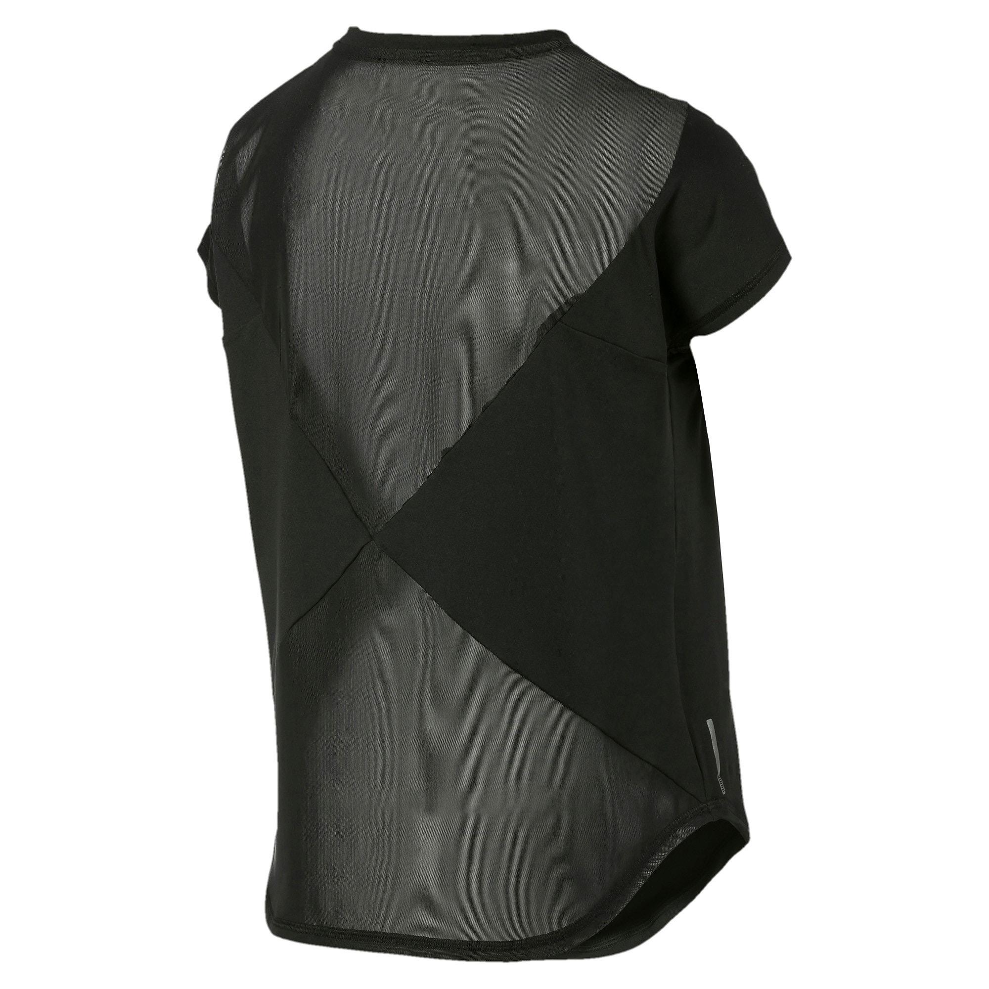 Thumbnail 6 of スタジオ SS メッシュ ウィメンズ トレーニング Tシャツ 半袖, Puma Black, medium-JPN