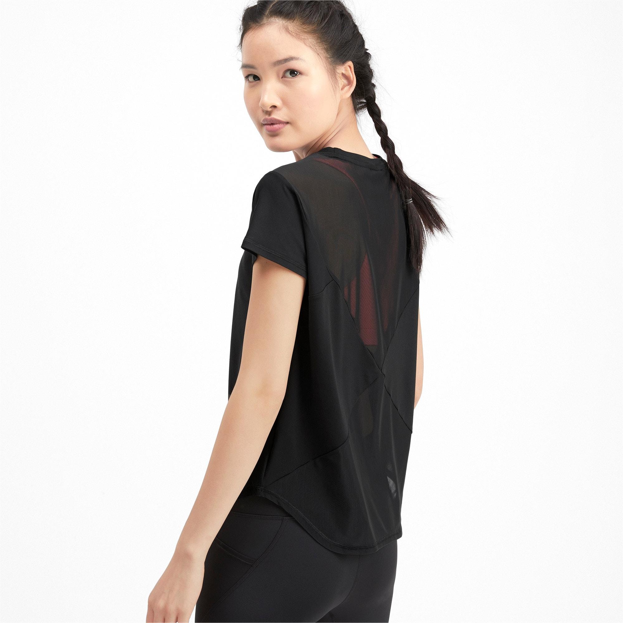Thumbnail 2 of スタジオ SS メッシュ ウィメンズ トレーニング Tシャツ 半袖, Puma Black, medium-JPN