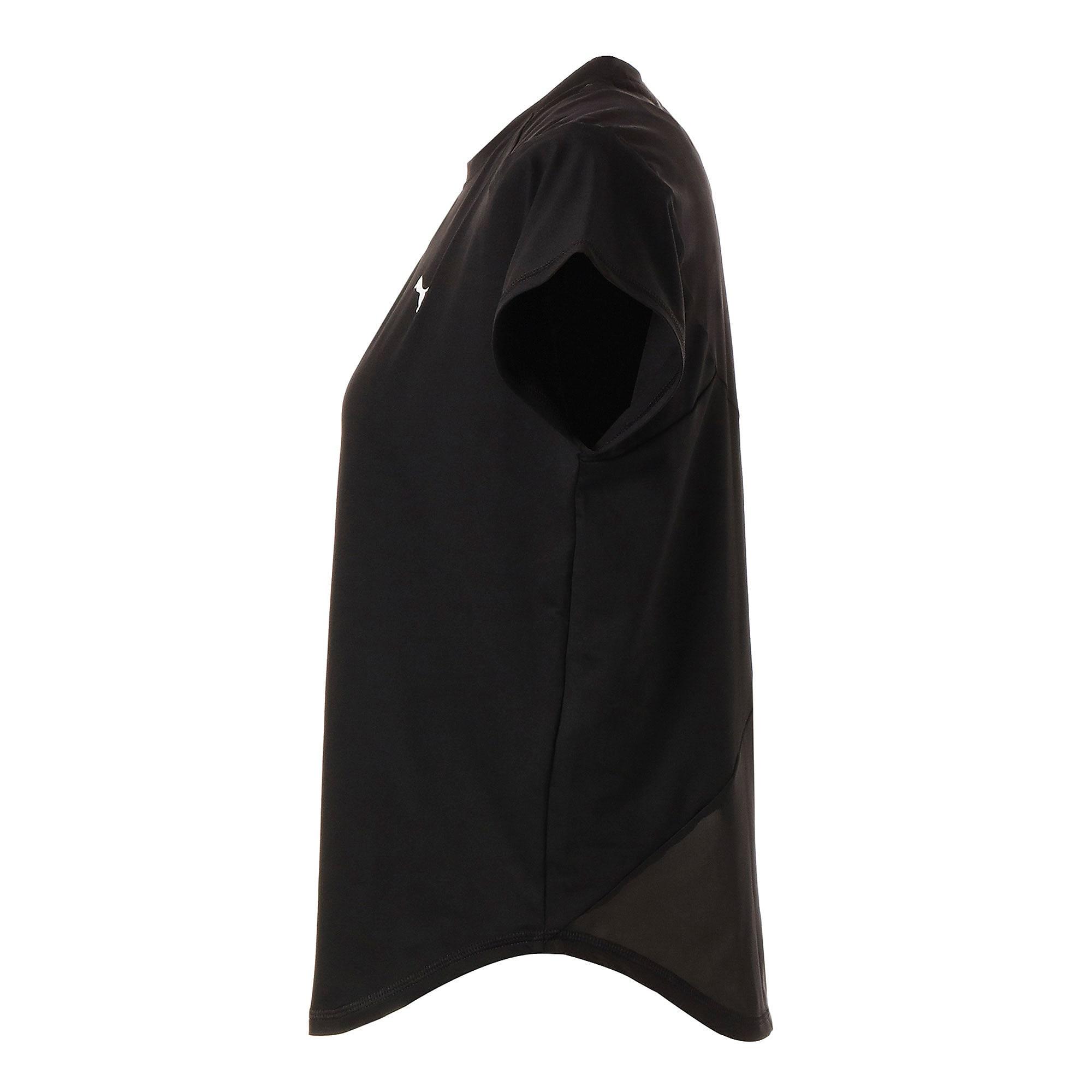 Thumbnail 5 of スタジオ SS メッシュ ウィメンズ トレーニング Tシャツ 半袖, Puma Black, medium-JPN