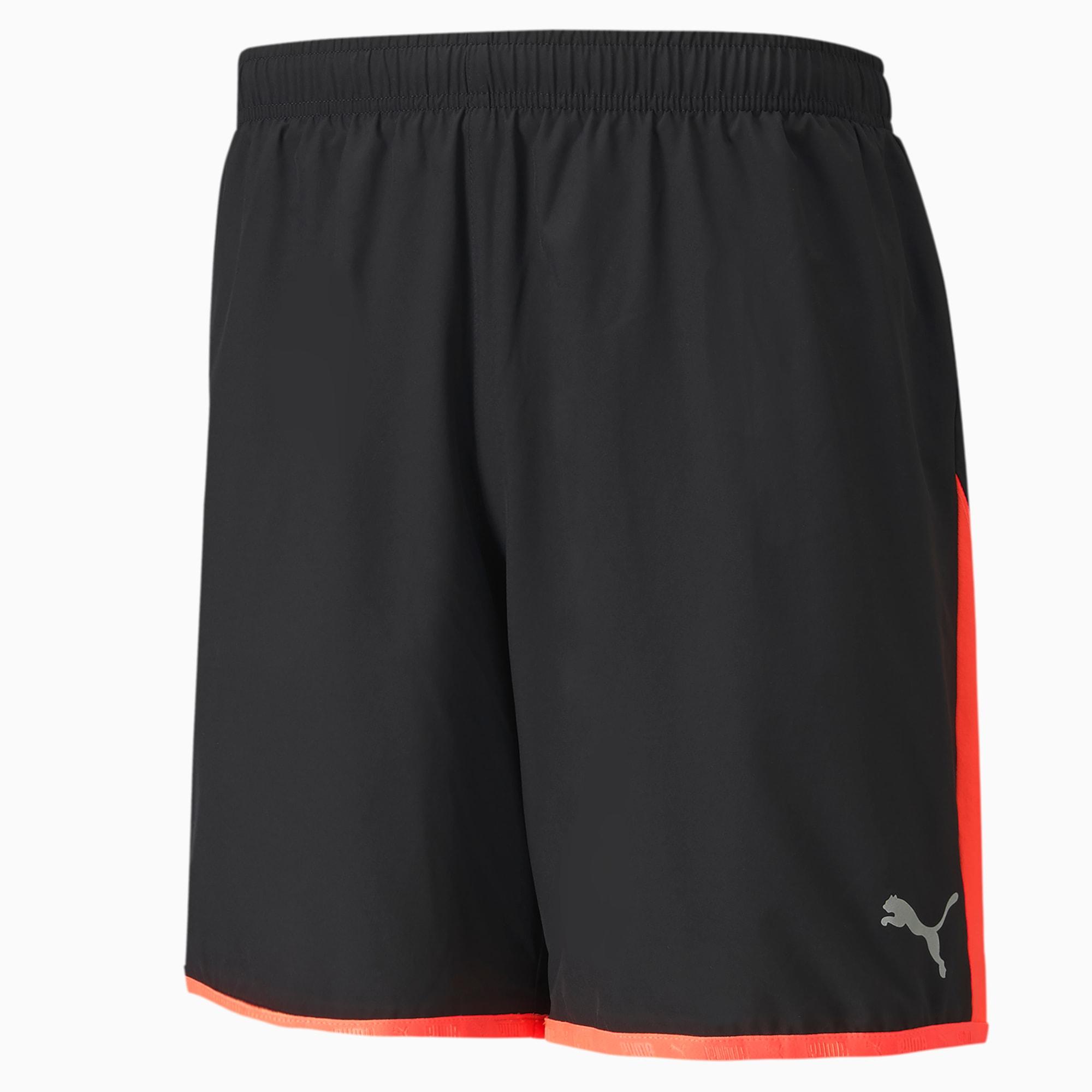 Last Lap Men's Colorblock Shorts, Puma Black-Ignite Pink, extralarge