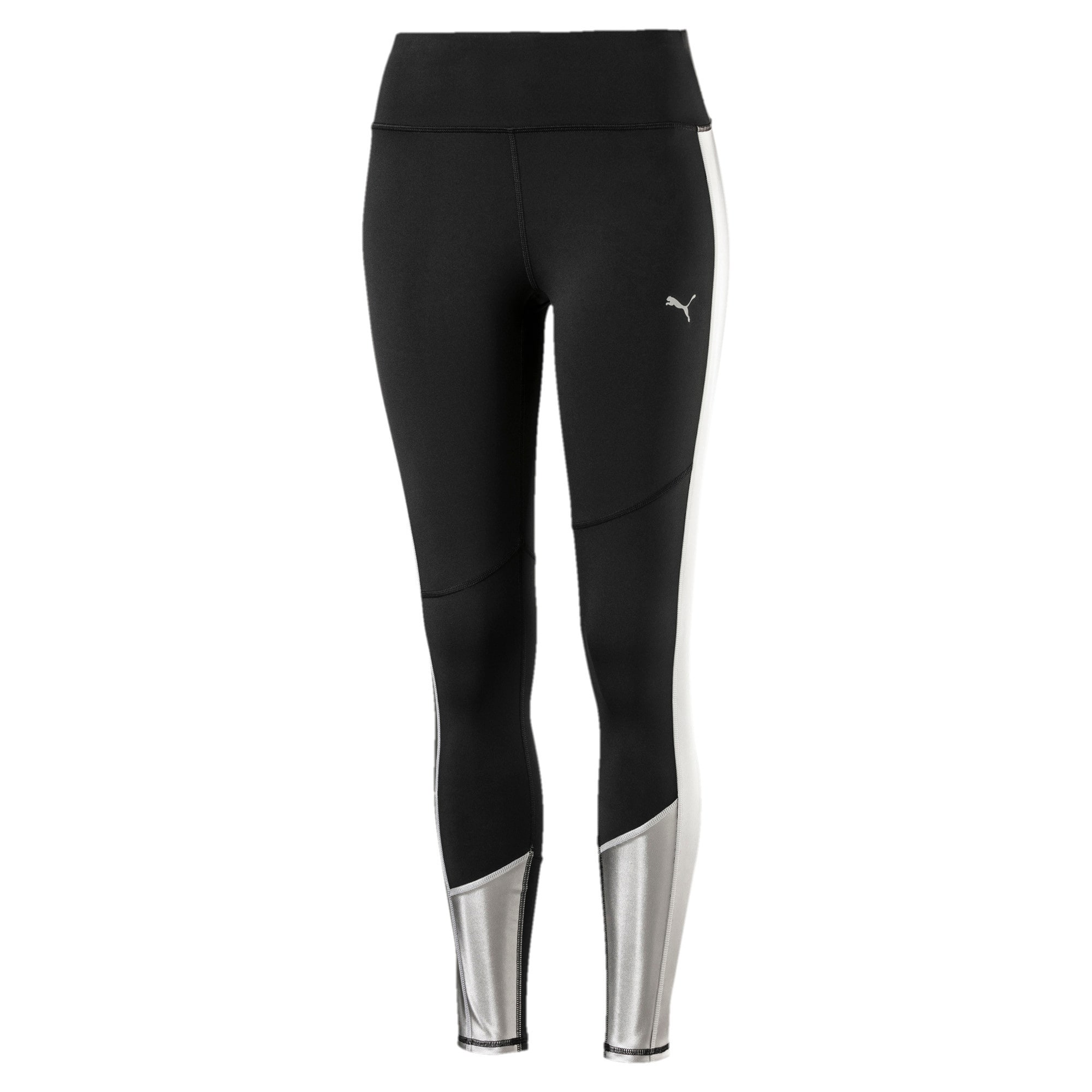 Thumbnail 1 of After Glow Mesh Women's Training Leggings, Puma Black-Titanium Silver, medium-IND