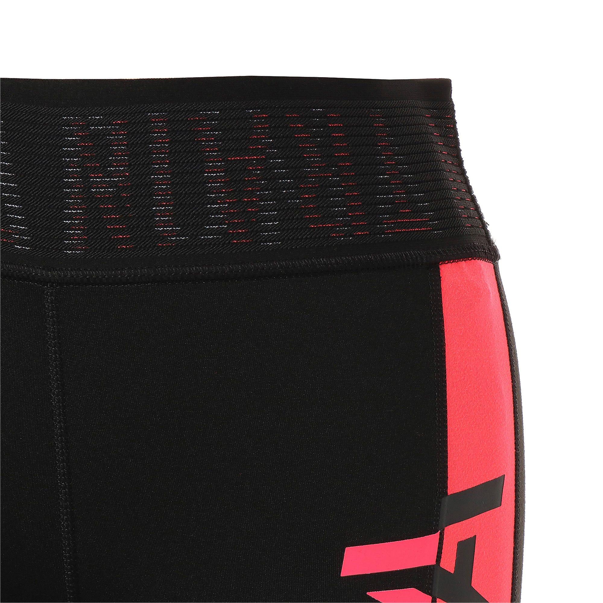 Thumbnail 8 of BE BOLD ウィメンズ トレーニング ロゴ 7/8タイツ, Puma Black-Pink Alert, medium-JPN