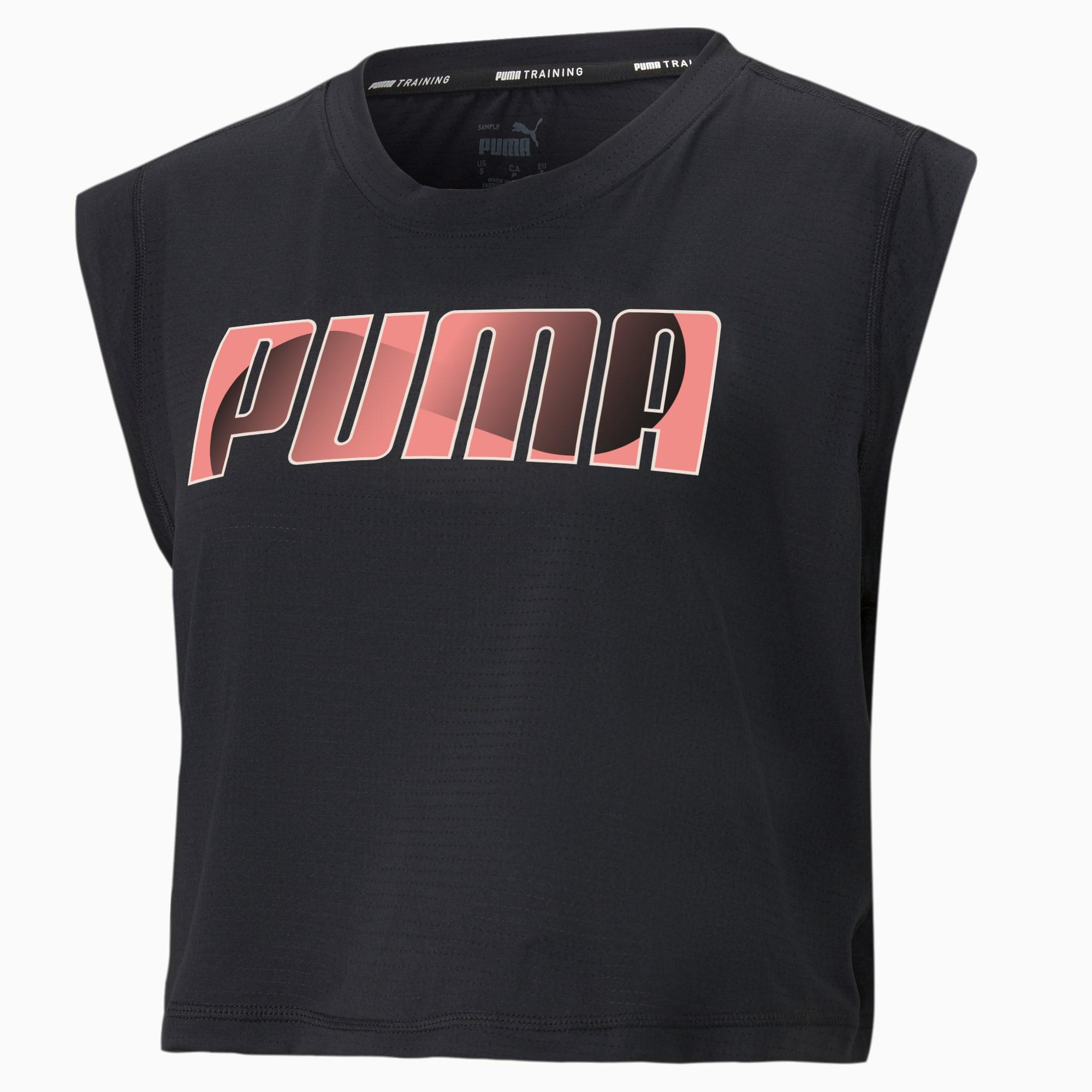 T-shirt d'entraînement à mancherons avec logo, femme   PUMA É.-U.