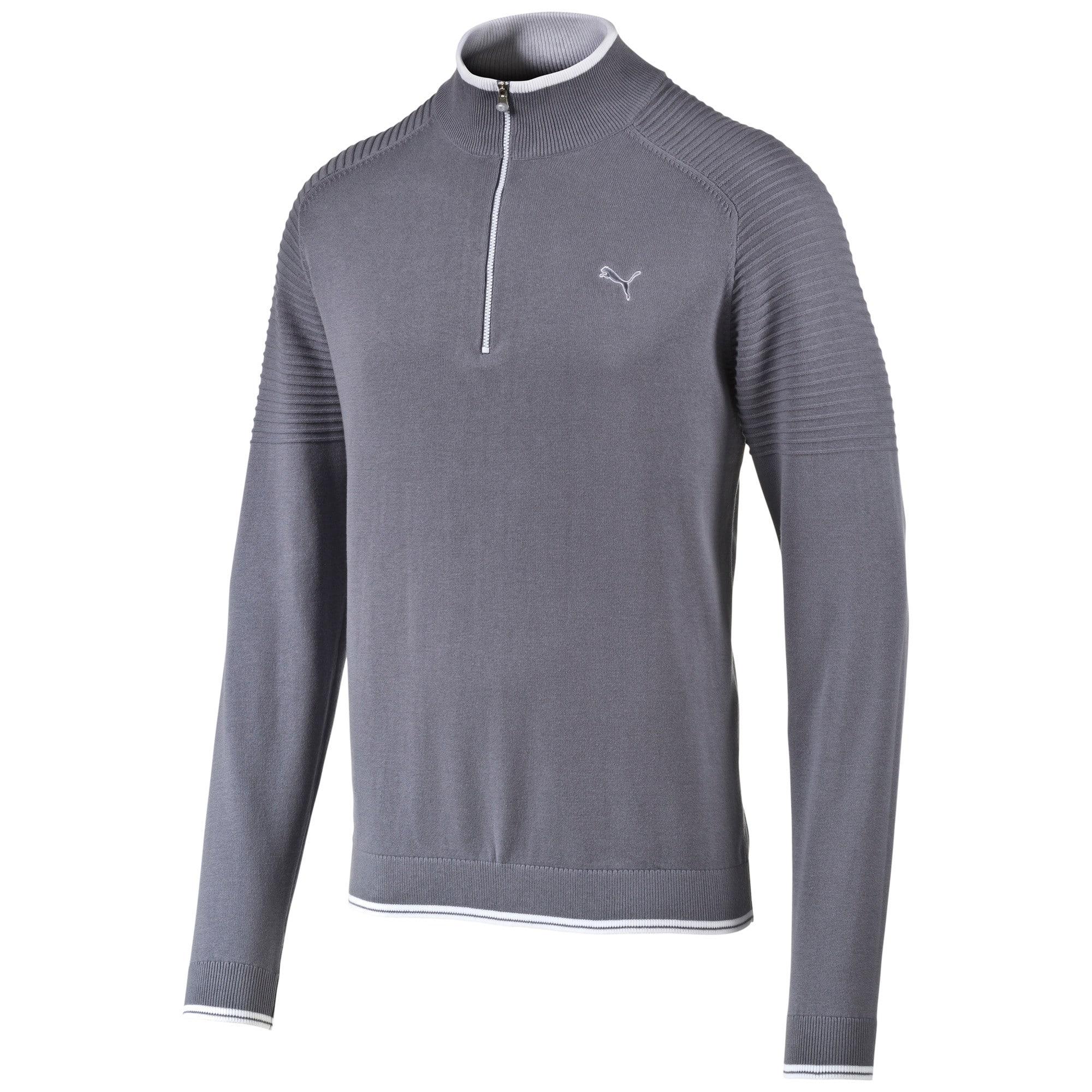 Thumbnail 1 of 1/4 Zip Sweater, folkstone gray-white, medium-IND