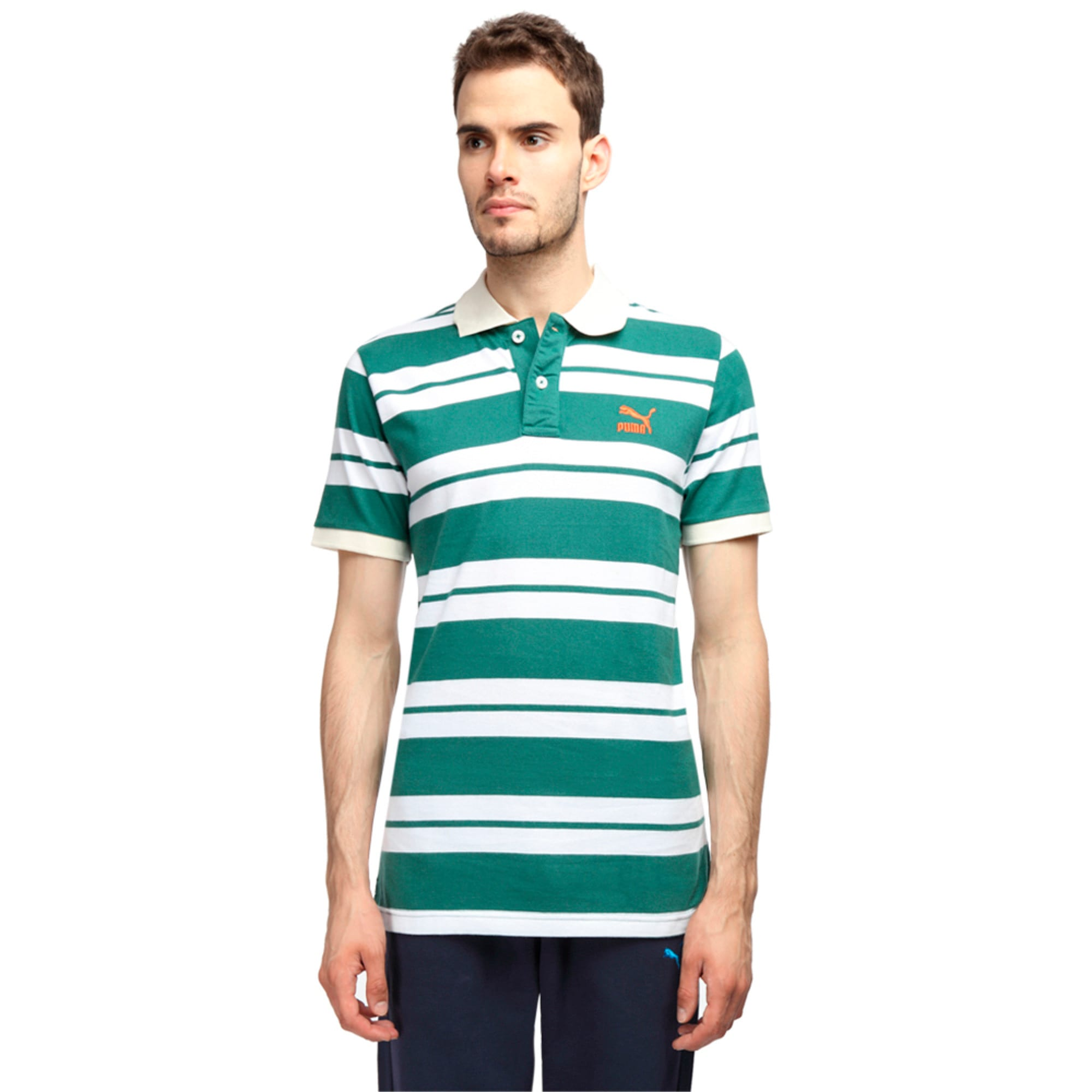Striped Polo, white-whisper white, large-IND