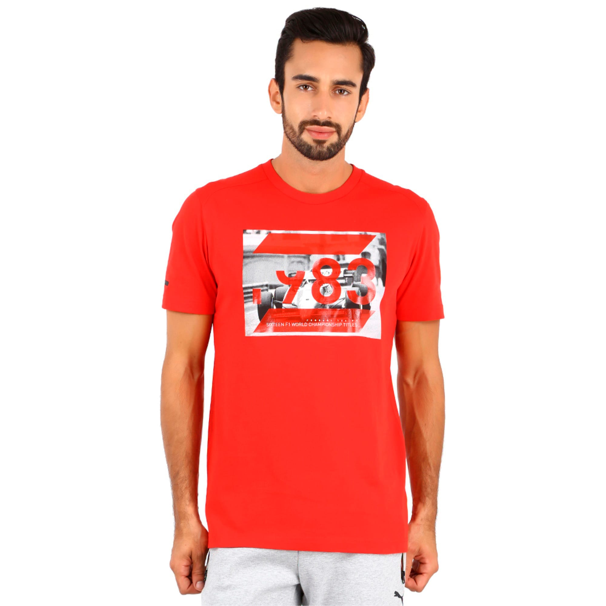 Thumbnail 1 of Ferrari Graphic T-Shirt, rosso corsa, medium-IND