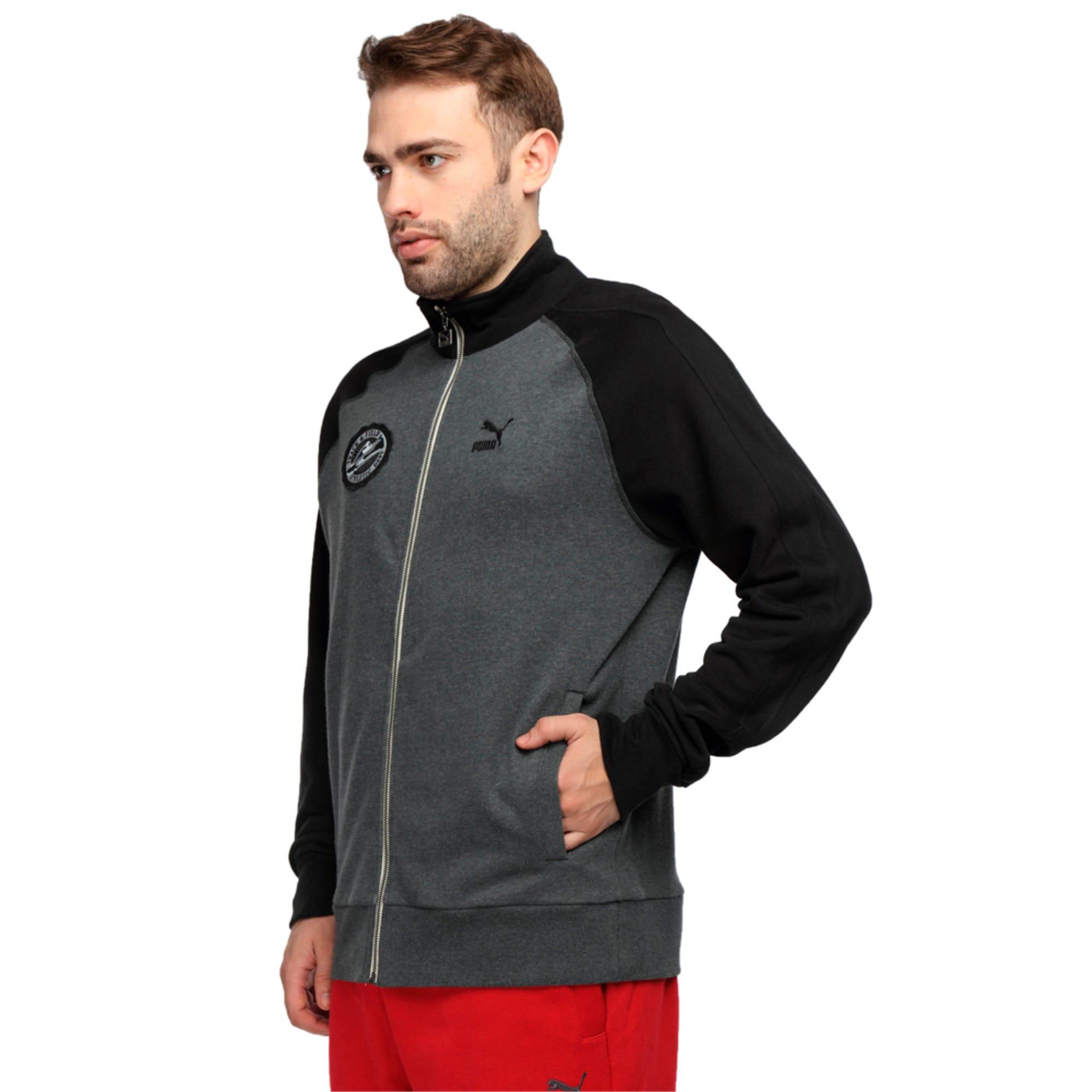 Thumbnail 1 of Varsity Track Jacket, dark gray heather, medium-IND