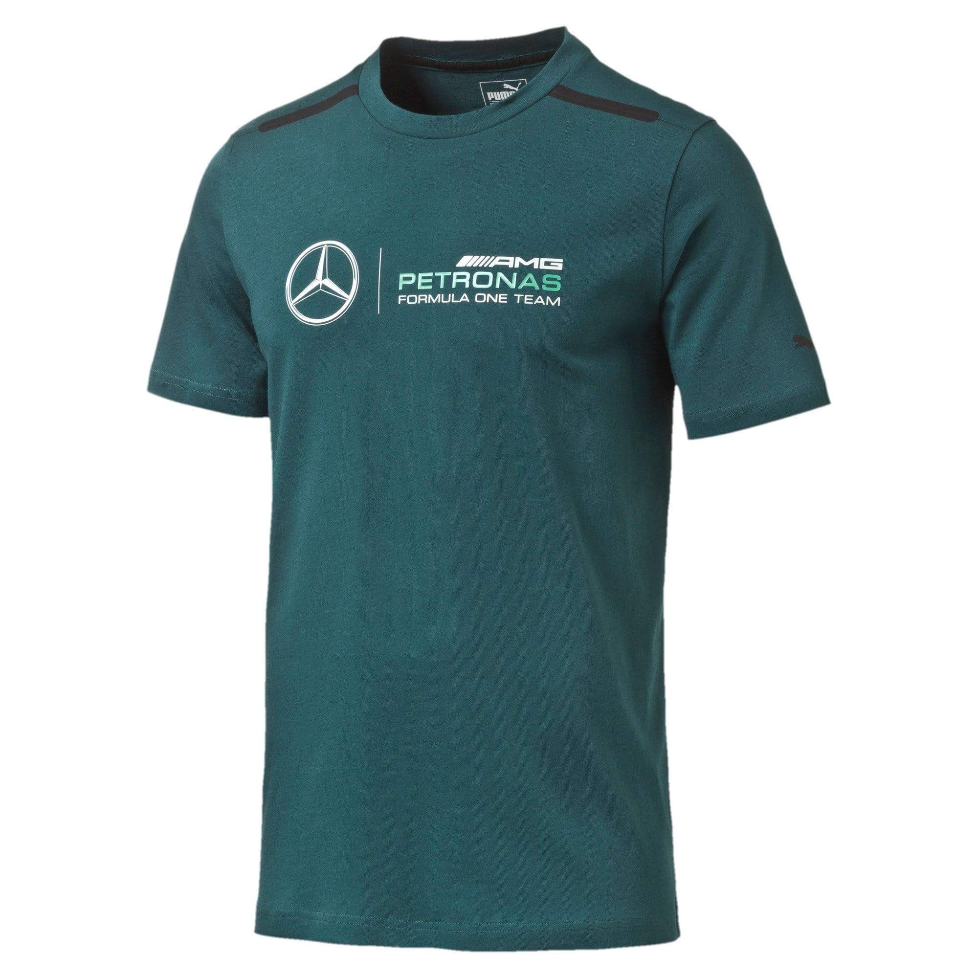 Thumbnail 1 of MERCEDES AMG PETRONAS Men's Logo T-Shirt, Deep Teal, medium-IND