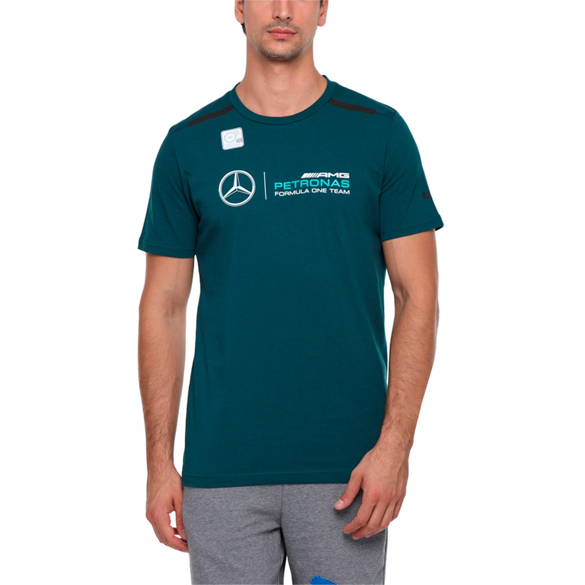 Thumbnail 2 of MERCEDES AMG PETRONAS Men's Logo T-Shirt, Deep Teal, medium-IND