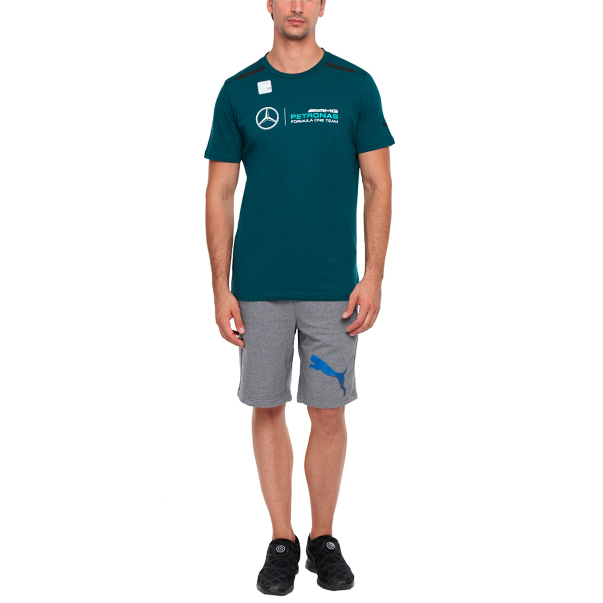Thumbnail 4 of MERCEDES AMG PETRONAS Men's Logo T-Shirt, Deep Teal, medium-IND