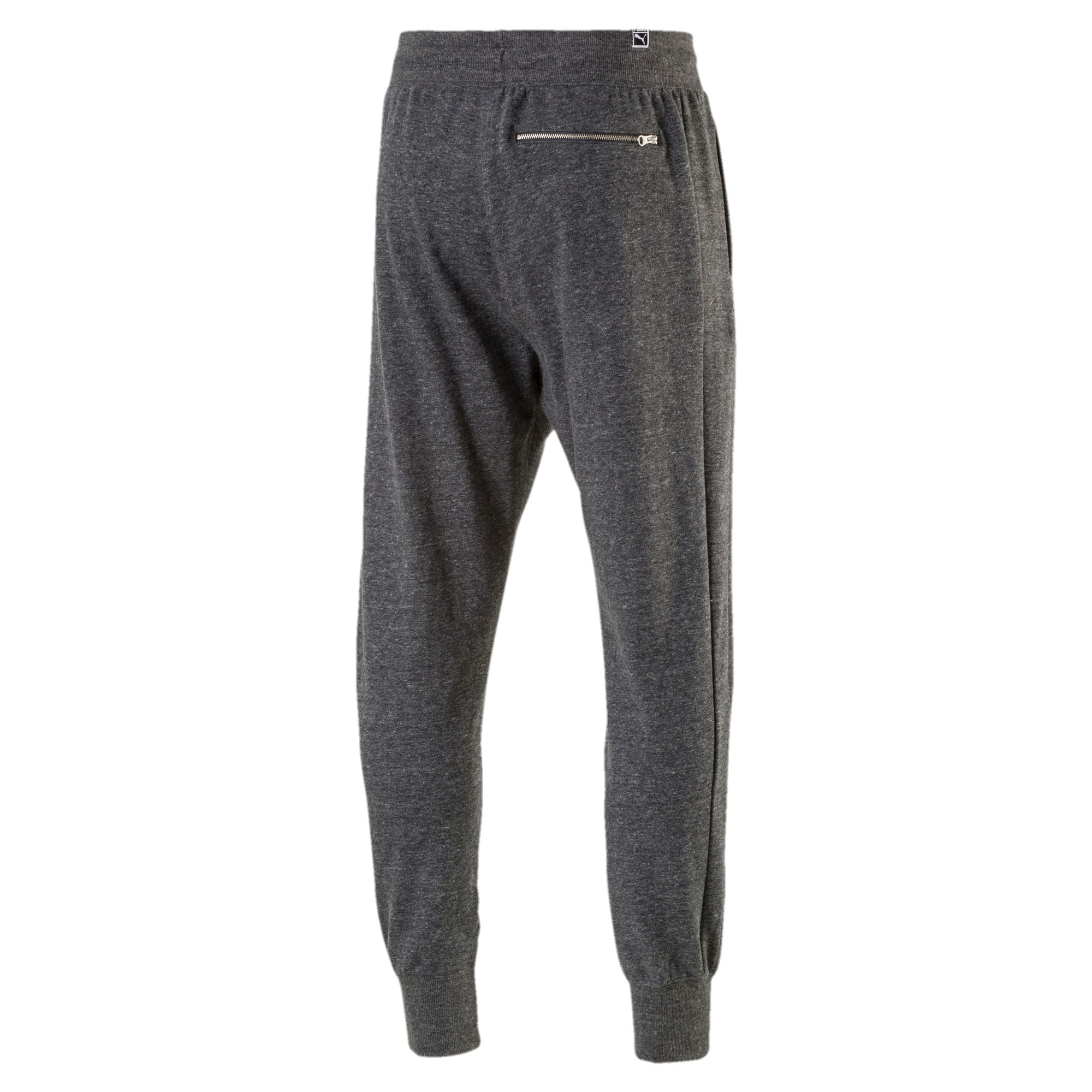 Thumbnail 4 of Men's Suede T7 Fleece Sweatpants, Puma Black Heather, medium-IND