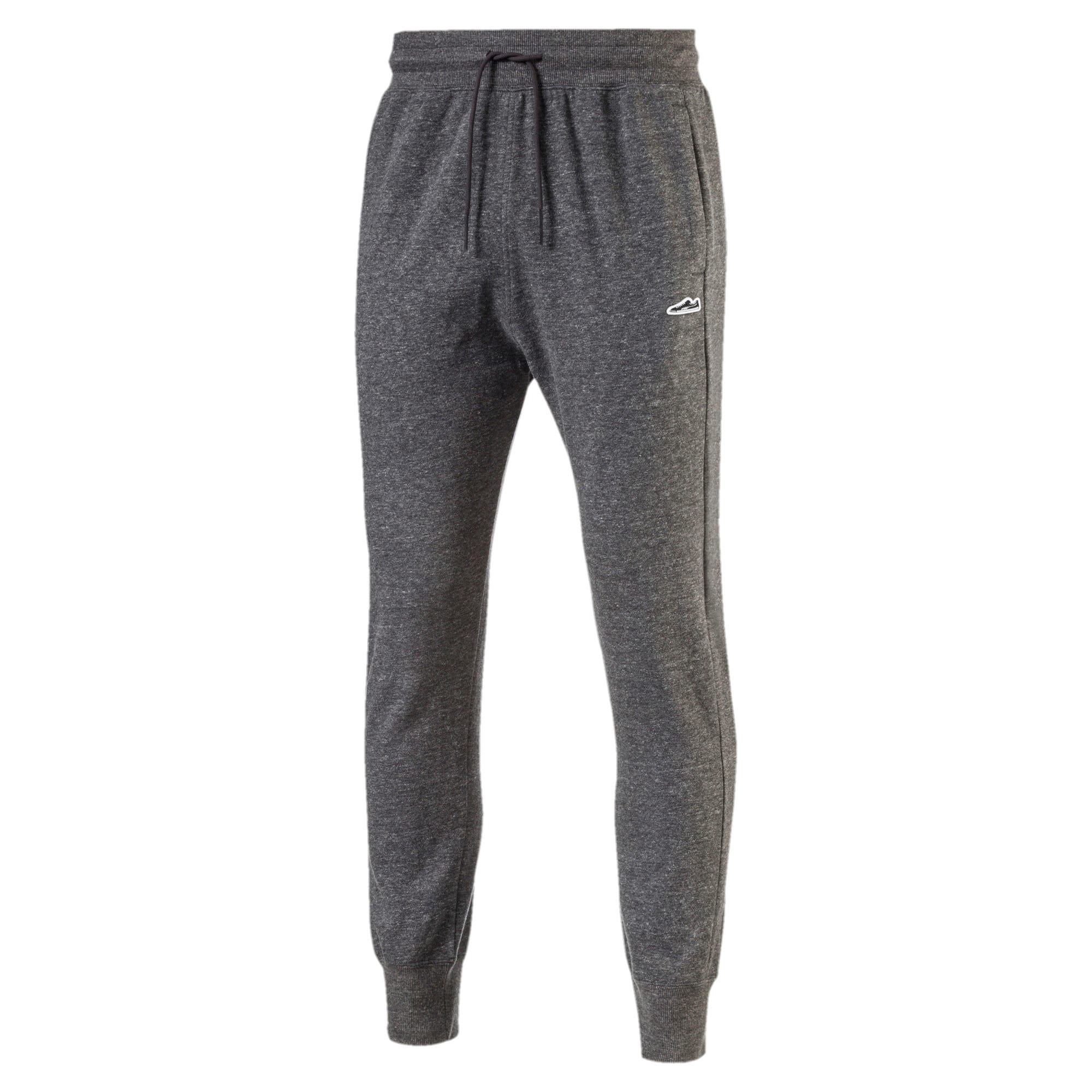 Thumbnail 3 of Men's Suede T7 Fleece Sweatpants, Puma Black Heather, medium-IND