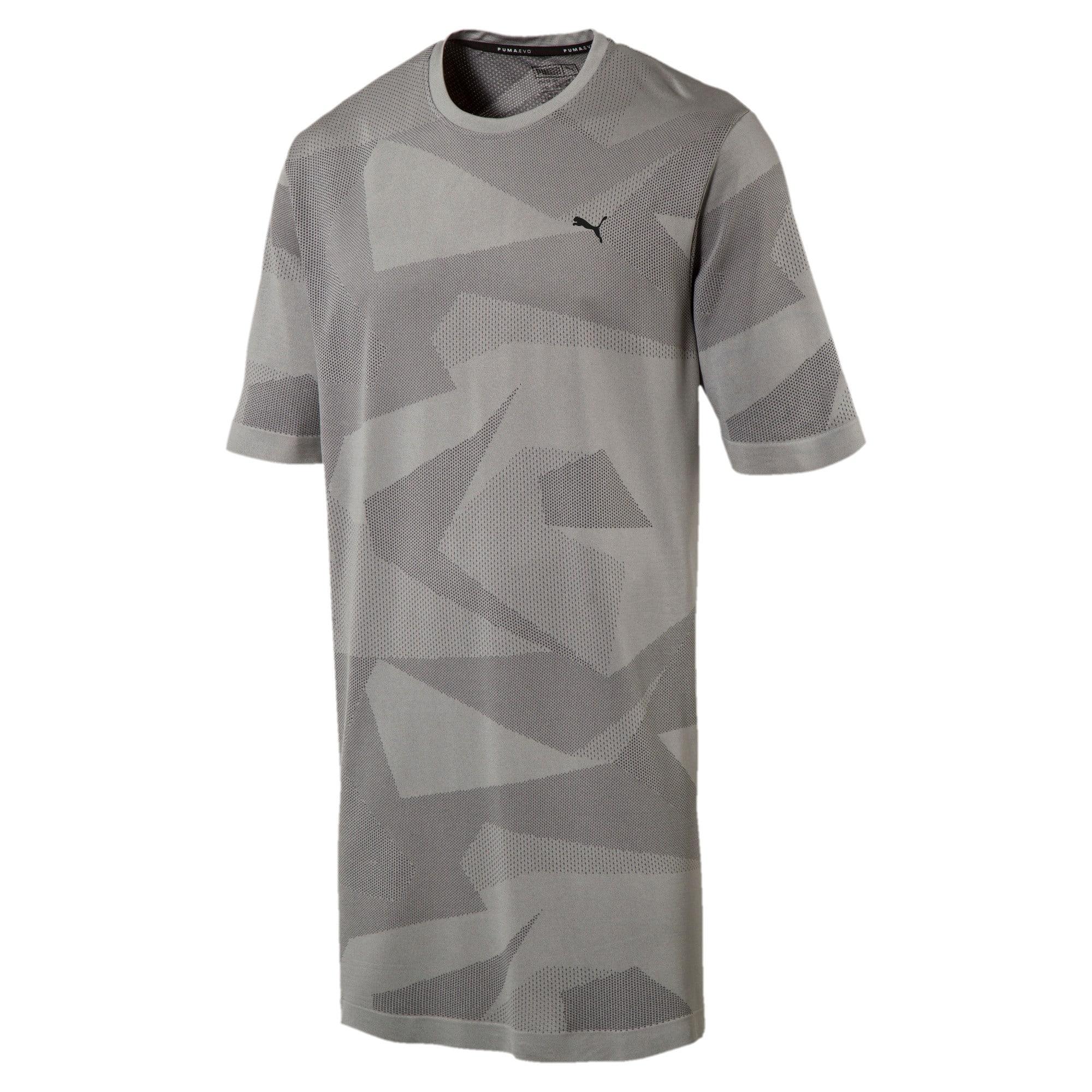 Thumbnail 4 of Evolution Men's evoKNIT Image T-Shirt, Medium Gray Heather, medium-IND