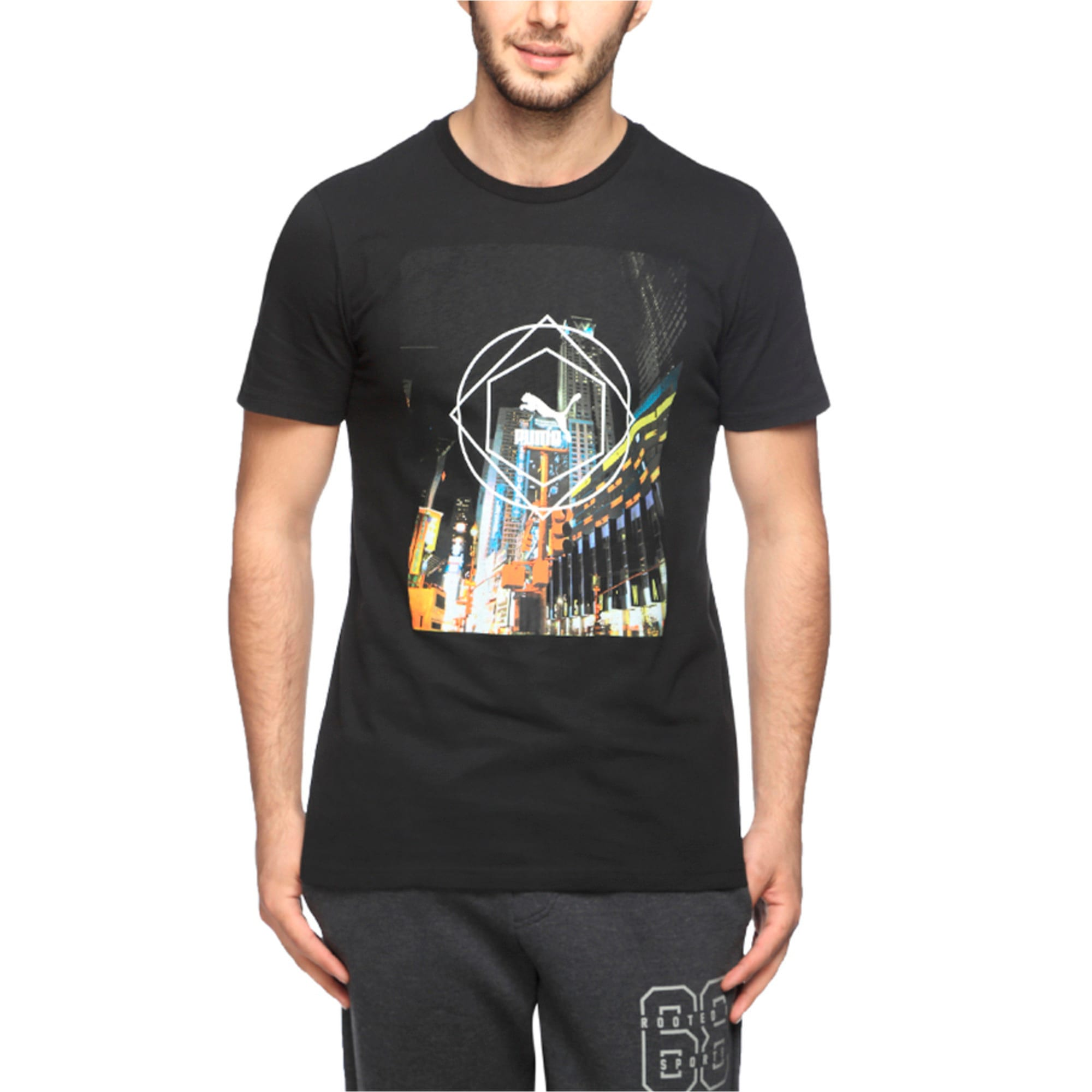 Brand puls Tee, Cotton Black, large-IND