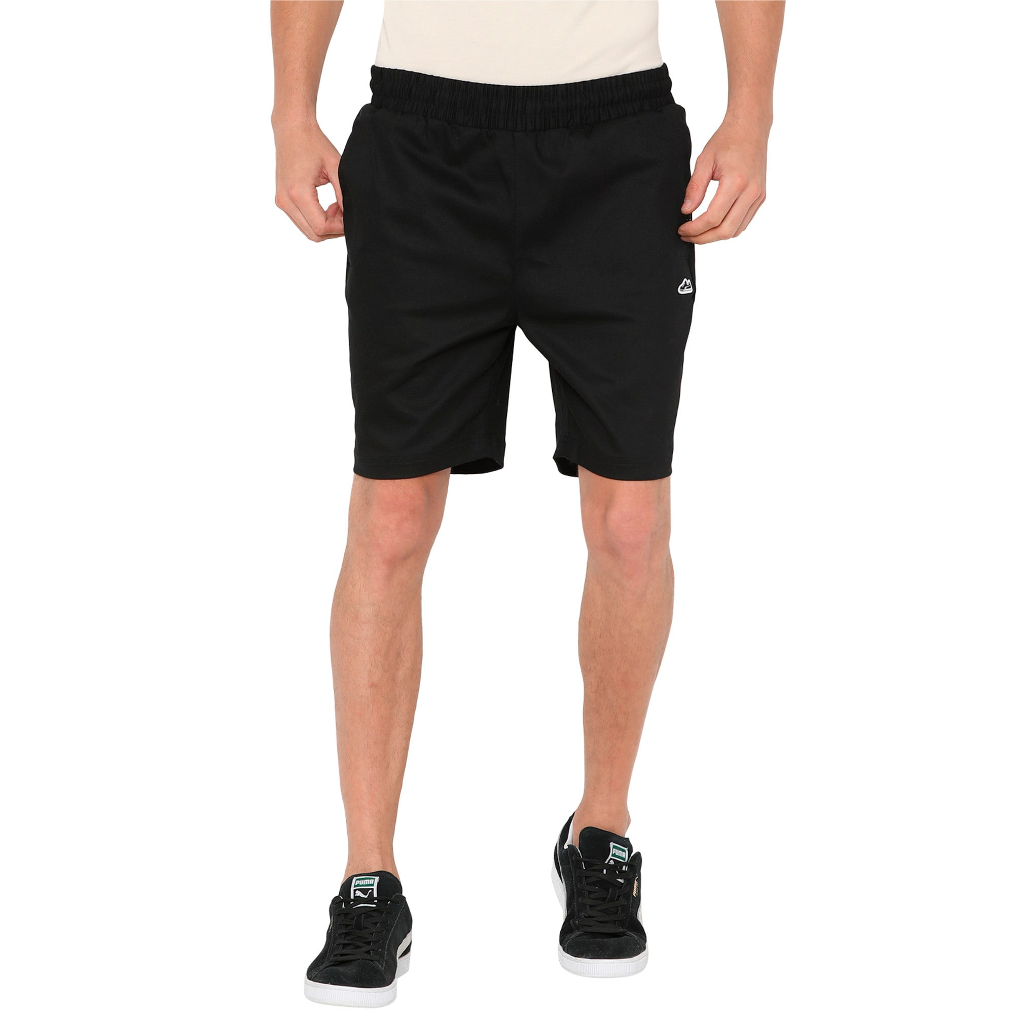 Thumbnail 4 of Men's Suede Shorts, Puma Black, medium-IND