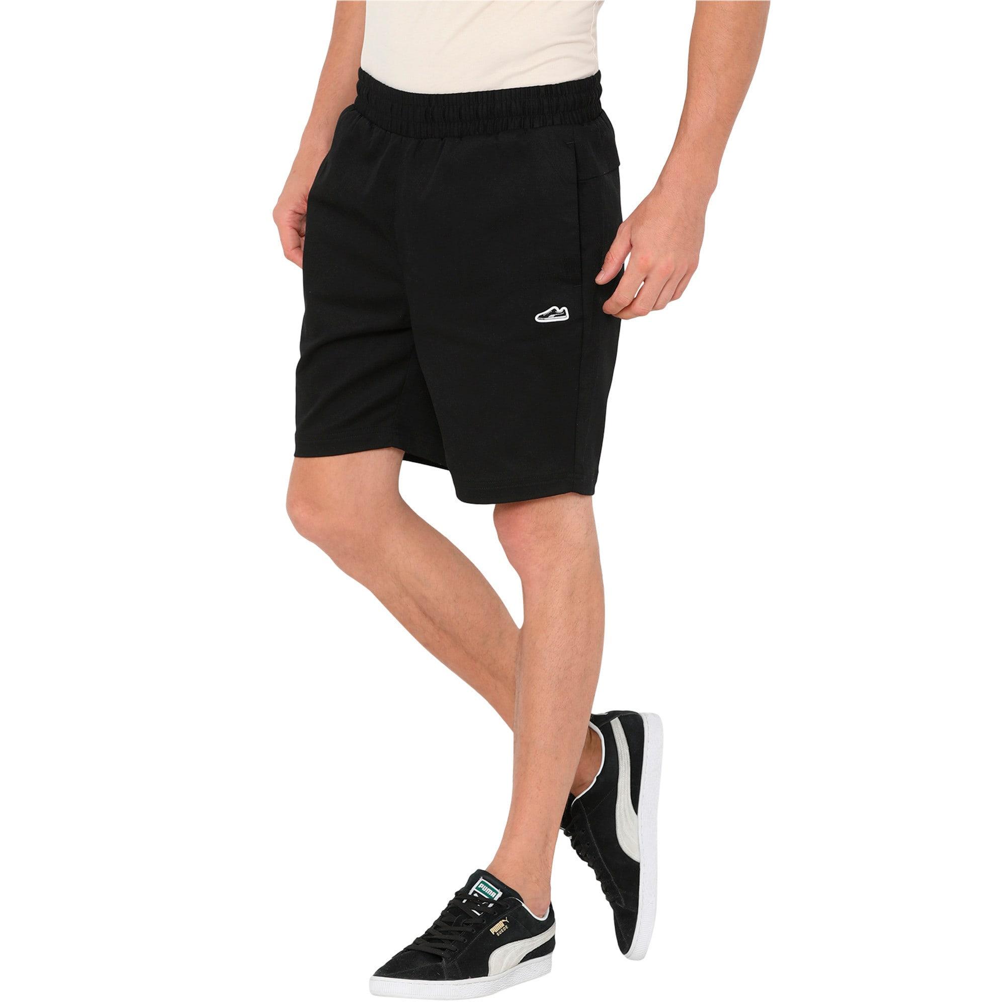 Thumbnail 2 of Men's Suede Shorts, Puma Black, medium-IND