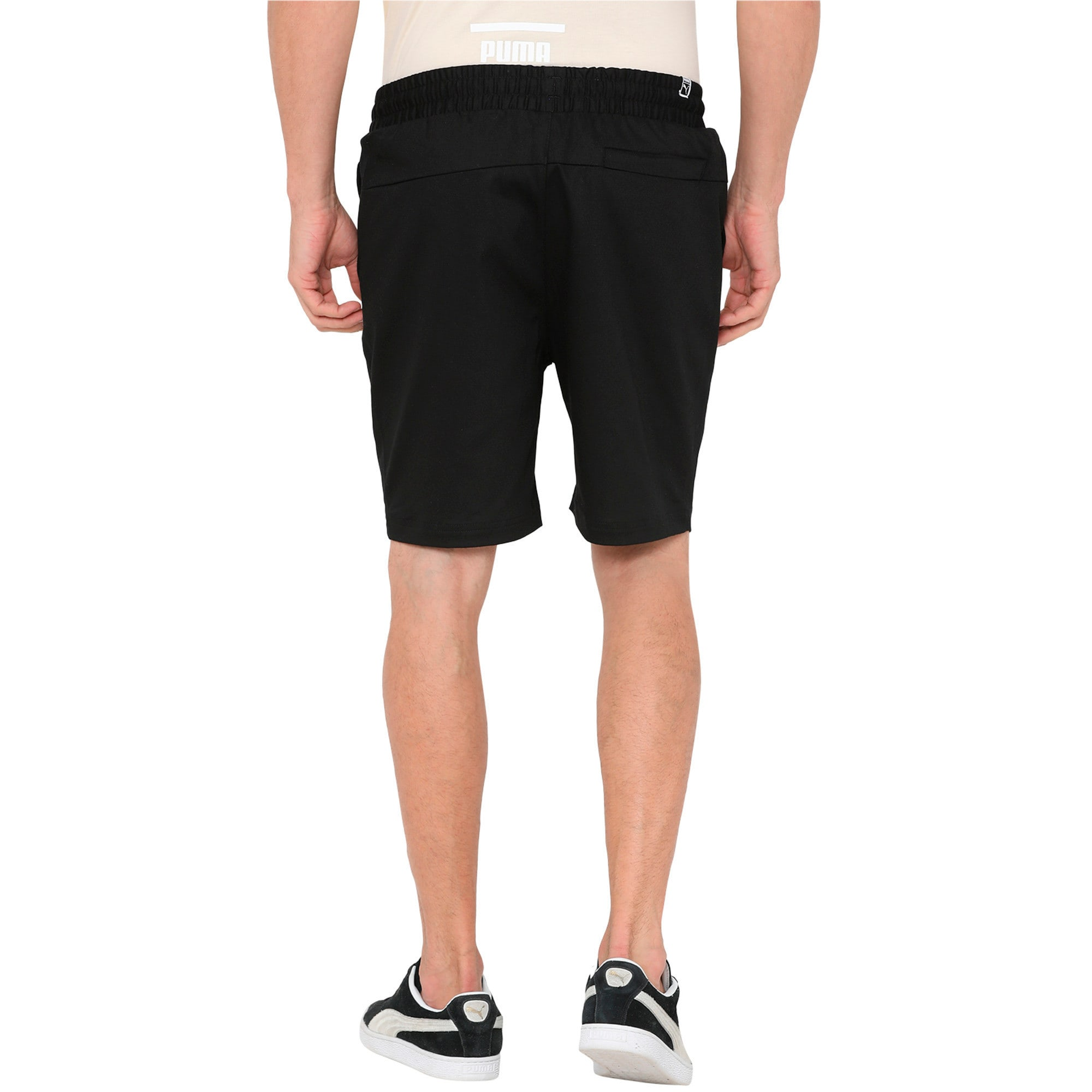 Thumbnail 3 of Men's Suede Shorts, Puma Black, medium-IND