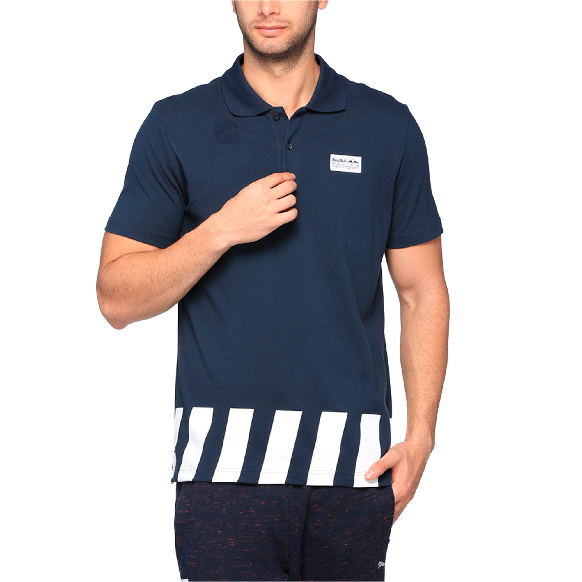 Thumbnail 2 of Red Bull Racing Men's Polo, Total Eclipse, medium-IND